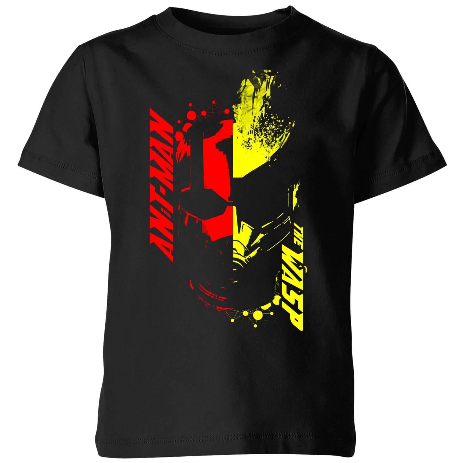 Ant-Man And The Wasp Split Face Kinder T-Shirt - Schwarz - 5-6 Jahre - Schwarz