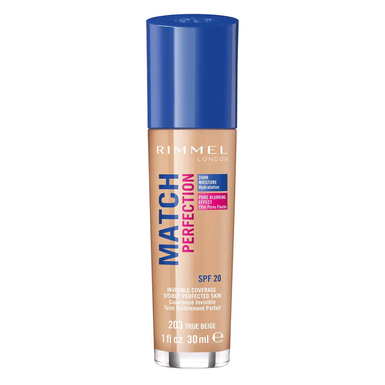 rimmel match perfection foundation 30ml (various shades) - true beige