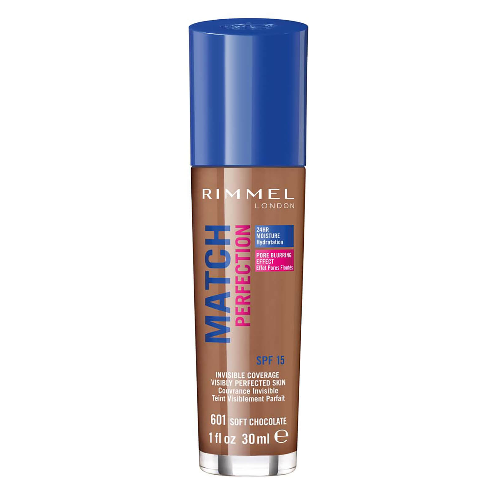rimmel match perfection foundation 30ml (various shades) - soft chocolate