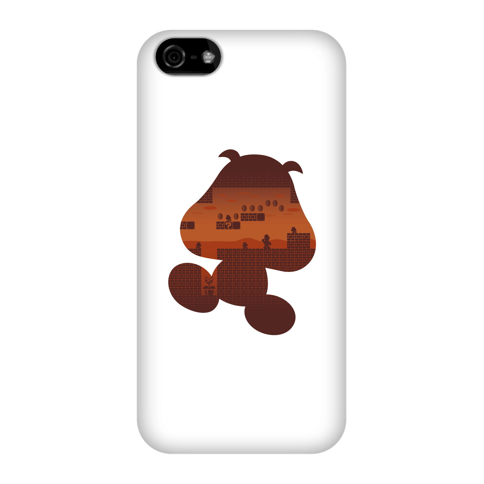 Nintendo Super Mario Goomba Silhouette Smartphone Hülle - iPhone 5C - Snap Hülle Matt