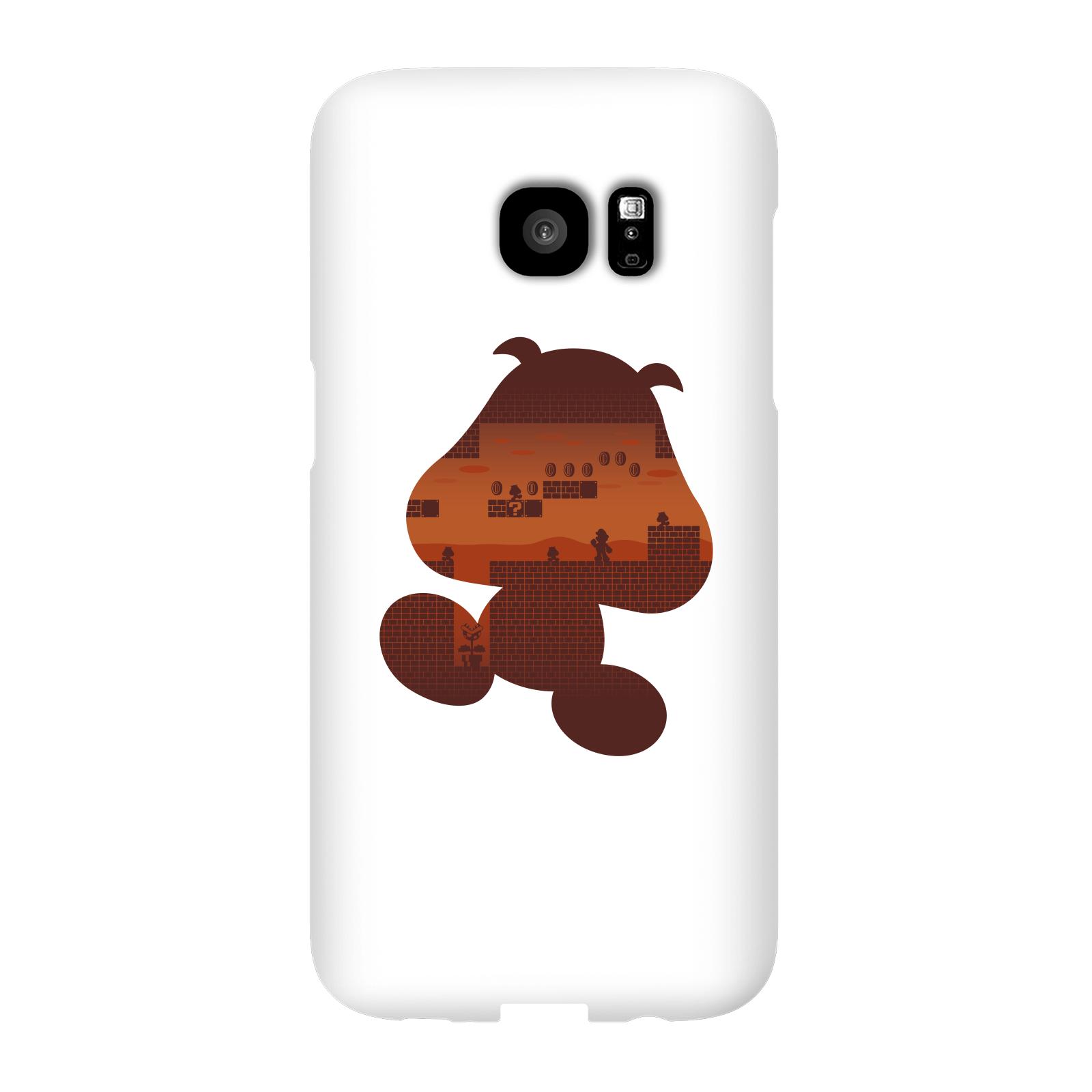 Nintendo Super Mario Goomba Silhouette Smartphone Hülle - Samsung S7 Edge - Snap Hülle Matt