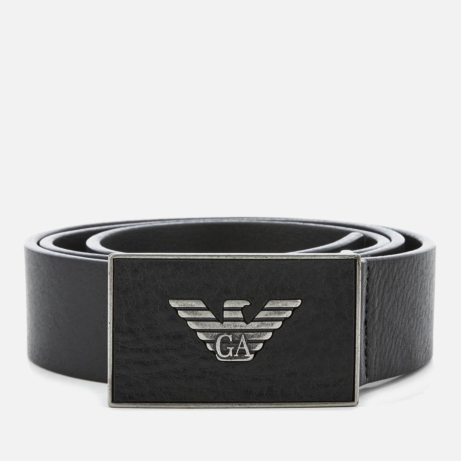 Emporio Armani Men's Plate Belt - Black - Eu 100/W39.5