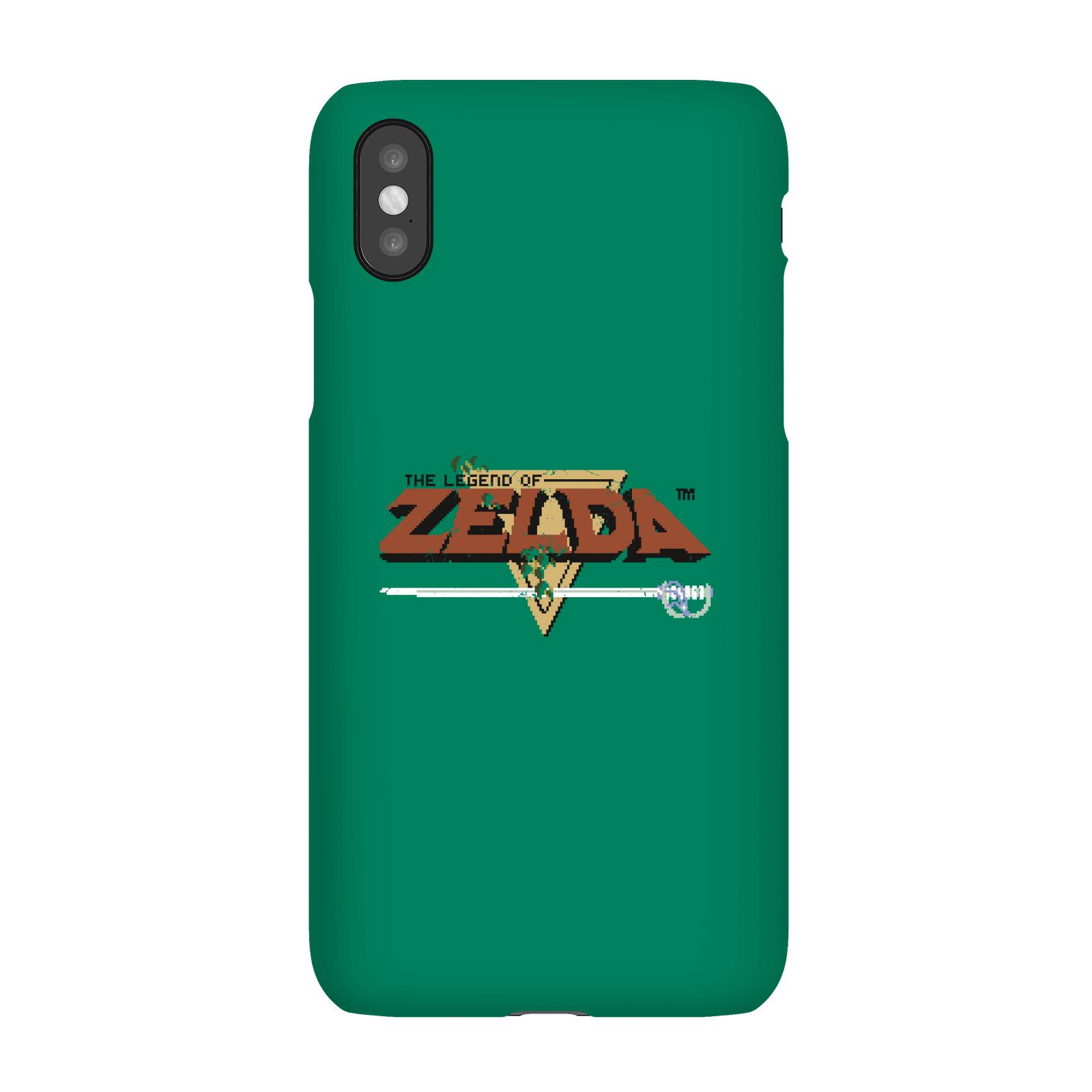 Nintendo The Legend Of Zelda Retro Logo Smartphone Hülle - iPhone XS Max - Snap Hülle Matt