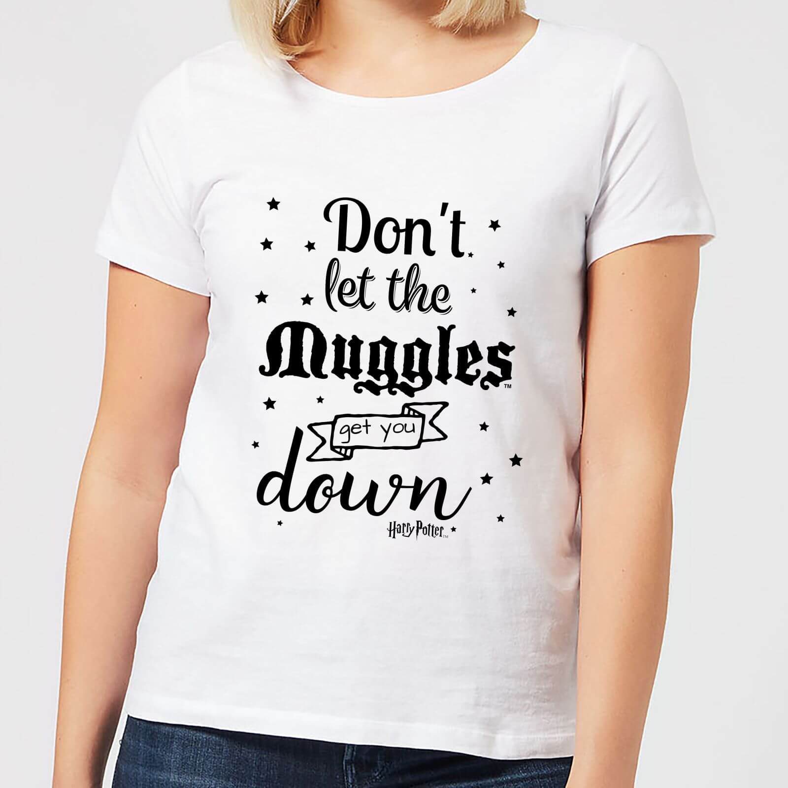 Harry Potter Don't Let The Muggles Get You Down Women's T-Shirt - White - 5XL - White