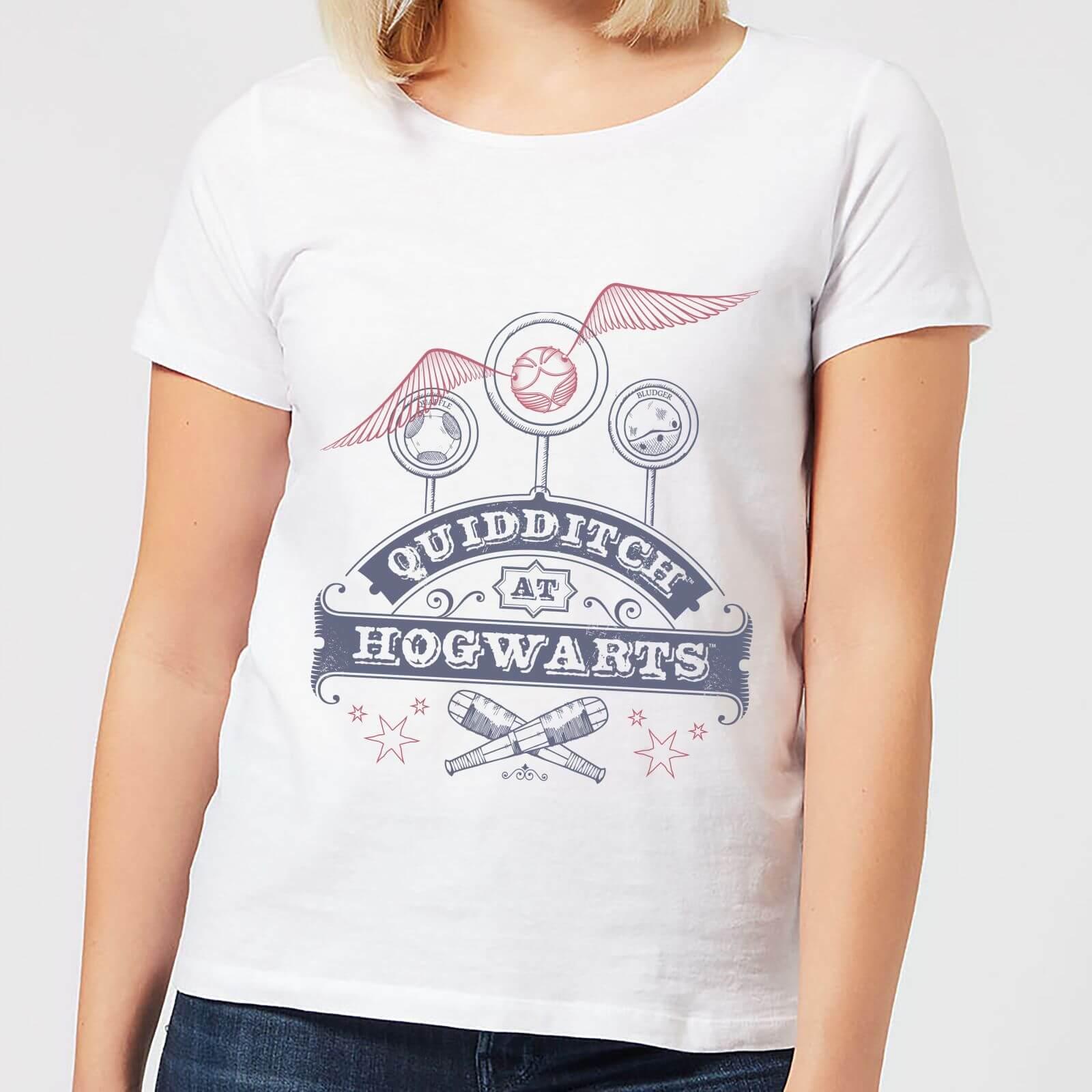 Harry Potter Quidditch At Hogwarts Women's T-Shirt - White - 5XL - White