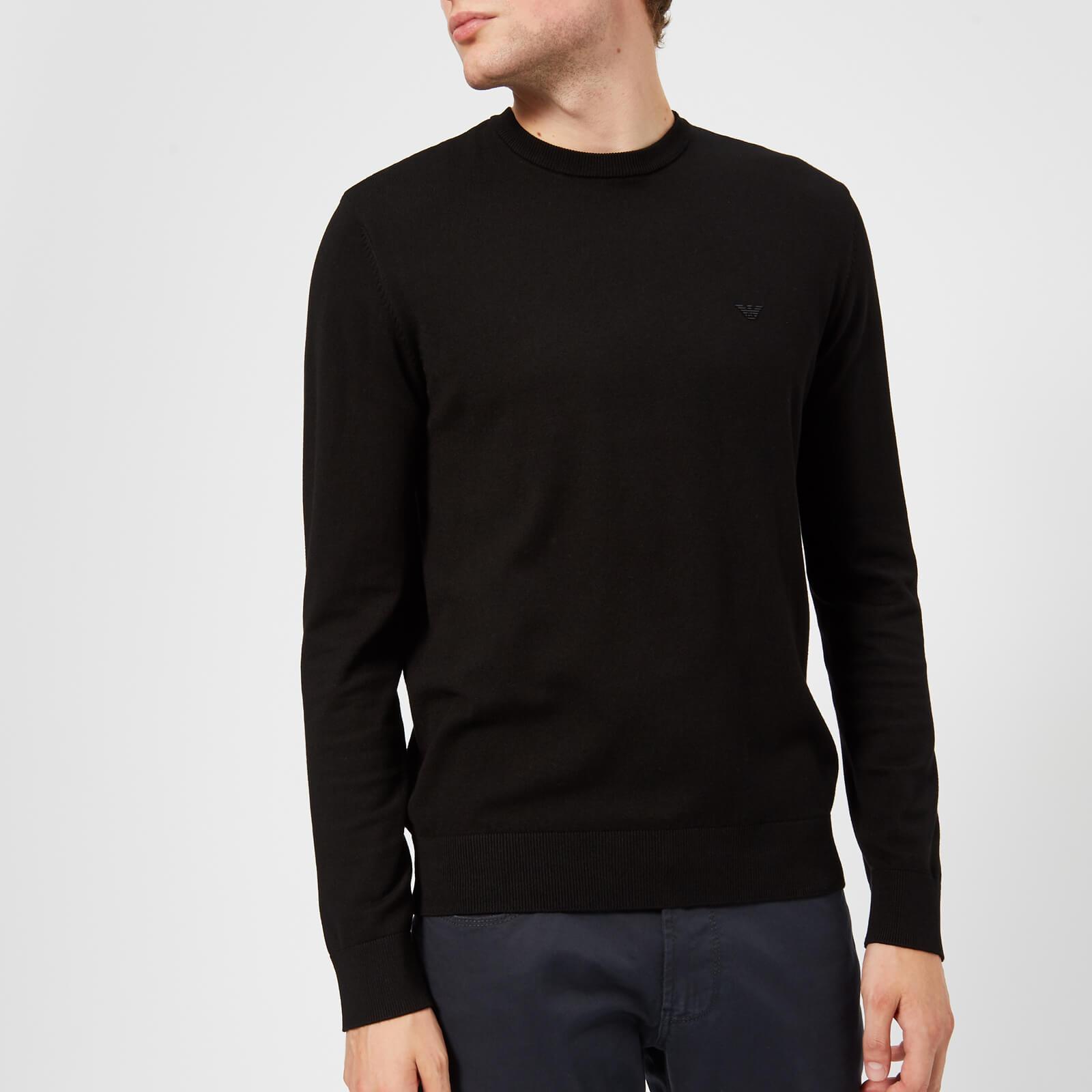 Emporio Armani Men's Basic Crew Neck Sweater - Black - S - Black
