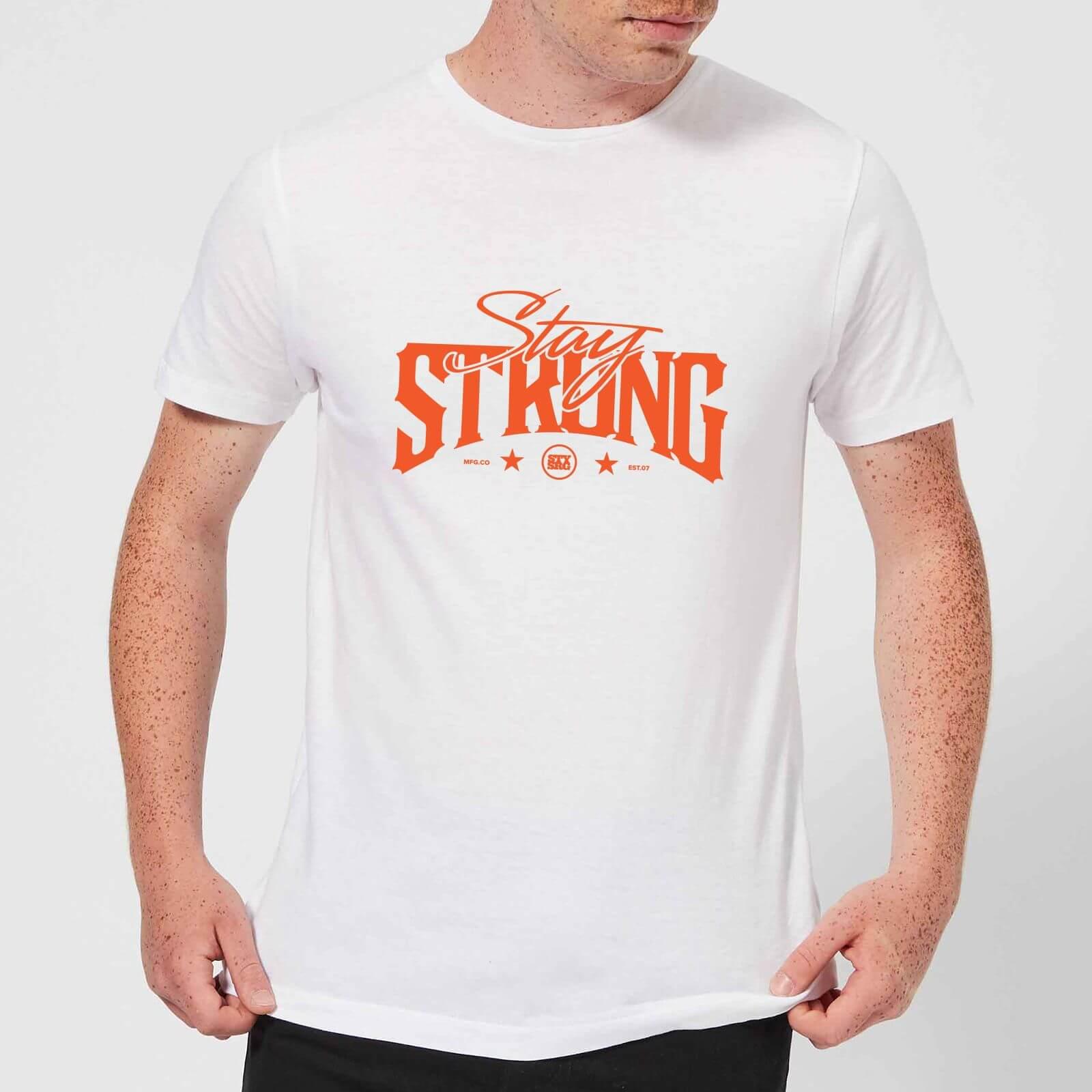 Stay Strong Logo Men's T-Shirt - White - L - Weiß
