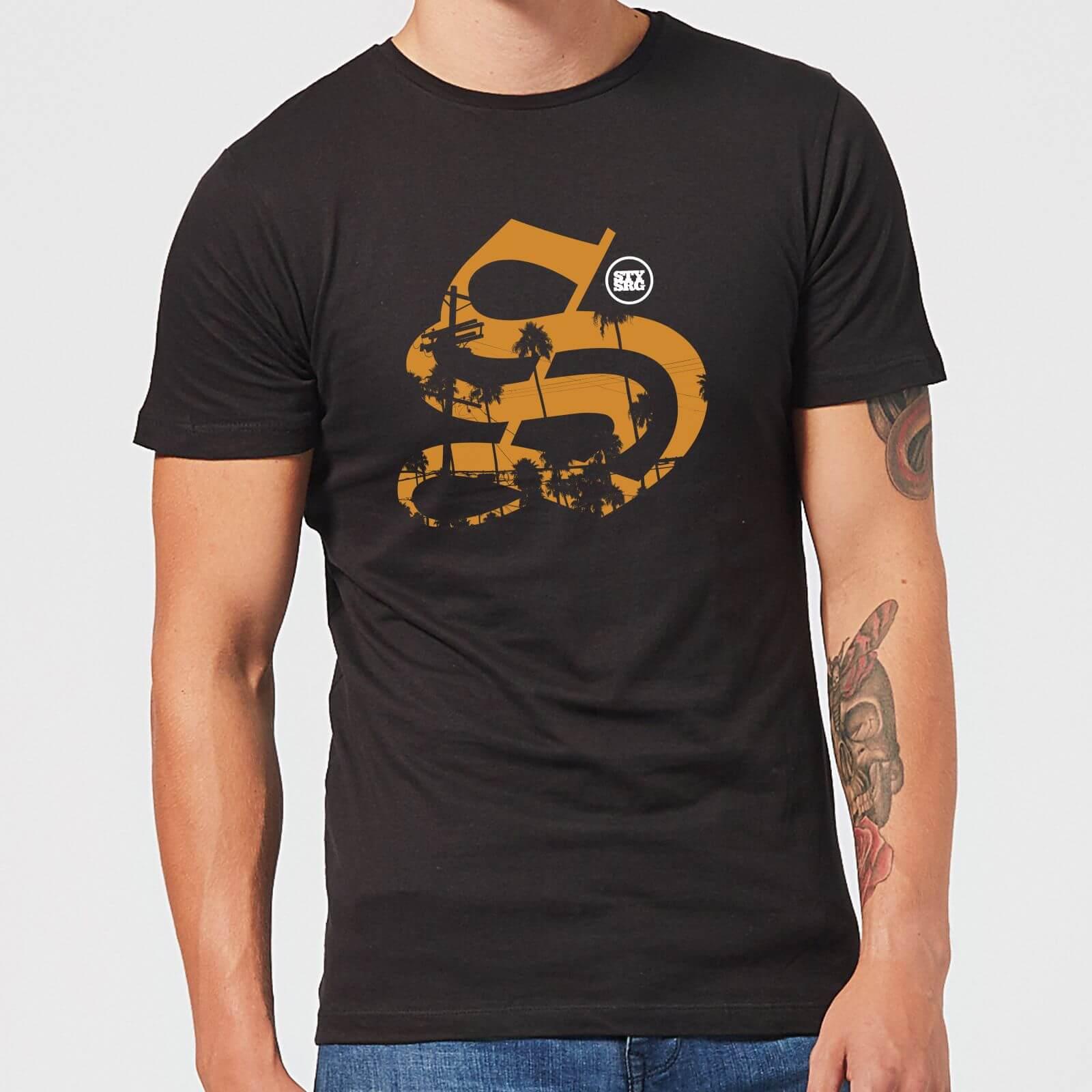 Stay Strong Palm Logo Men's T-Shirt - Black - M - Schwarz