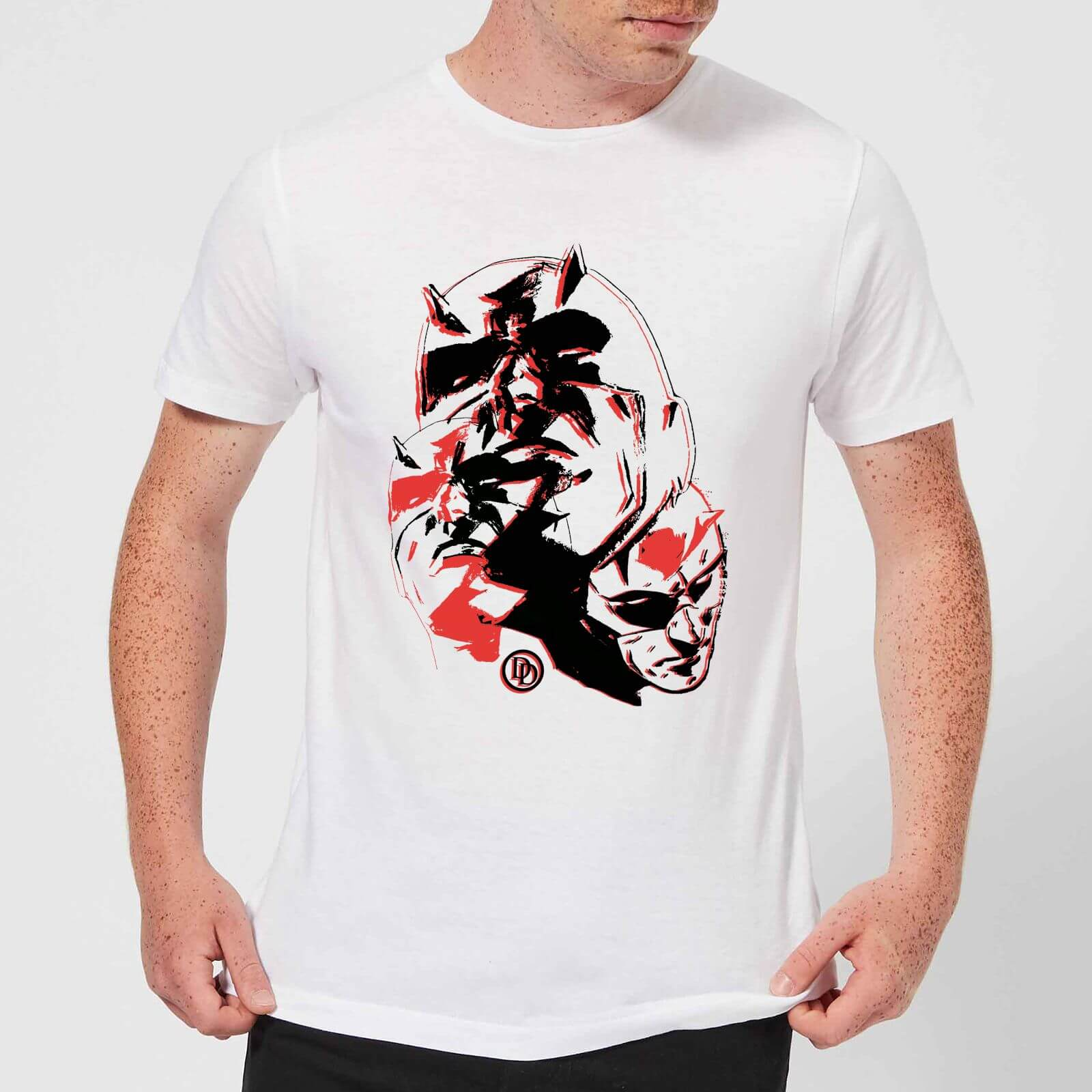 OfferteWeb.click 13-t-shirt-marvel-knights-daredevil-layered-faces-bianco