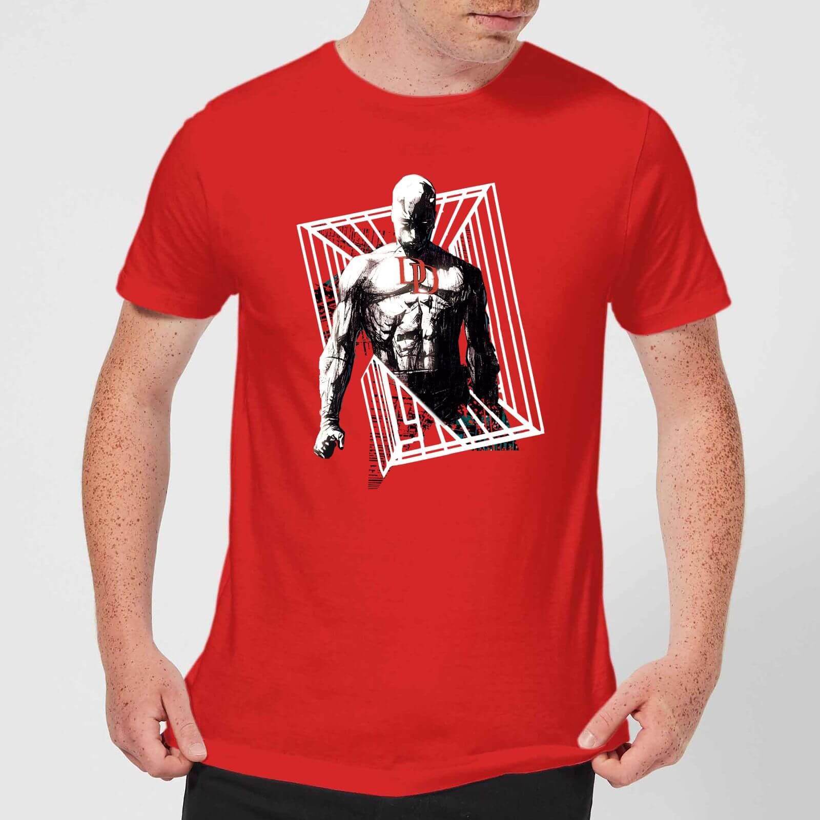 OfferteWeb.click 15-t-shirt-marvel-knights-daredevil-cage-rosso-uomo-s