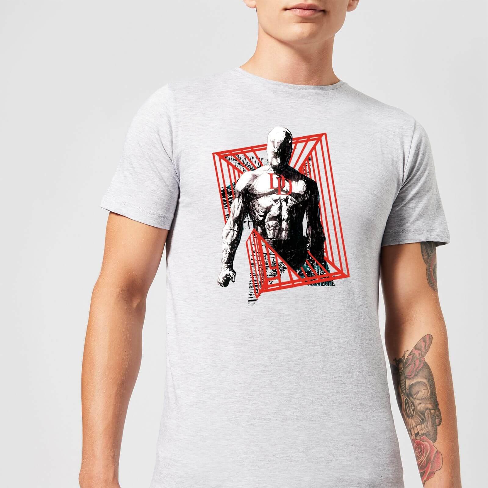 OfferteWeb.click 25-t-shirt-marvel-knights-daredevil-cage-grigio-uomo-xxl