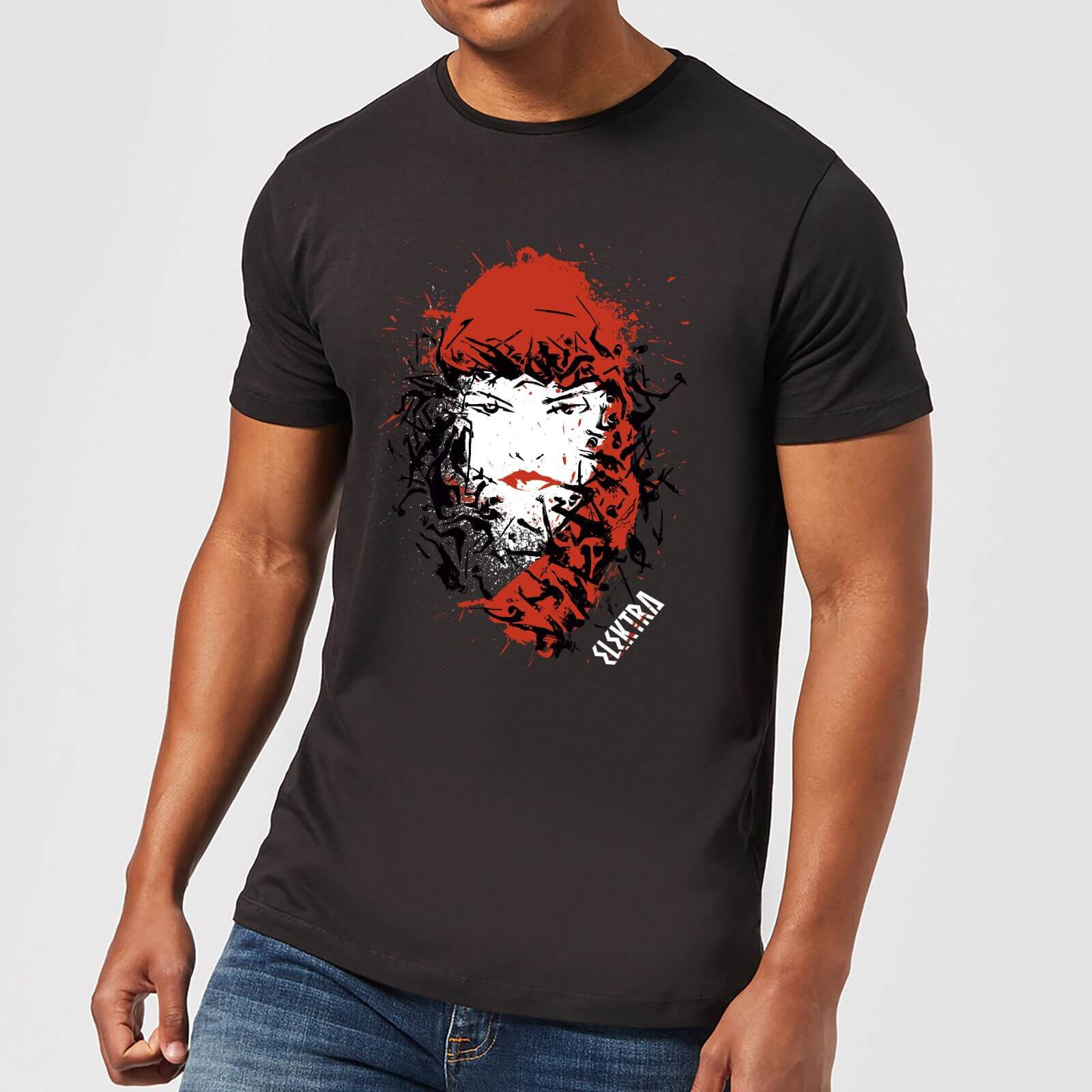 OfferteWeb.click 31-t-shirt-marvel-knights-elektra-face-of-death-nero-uomo