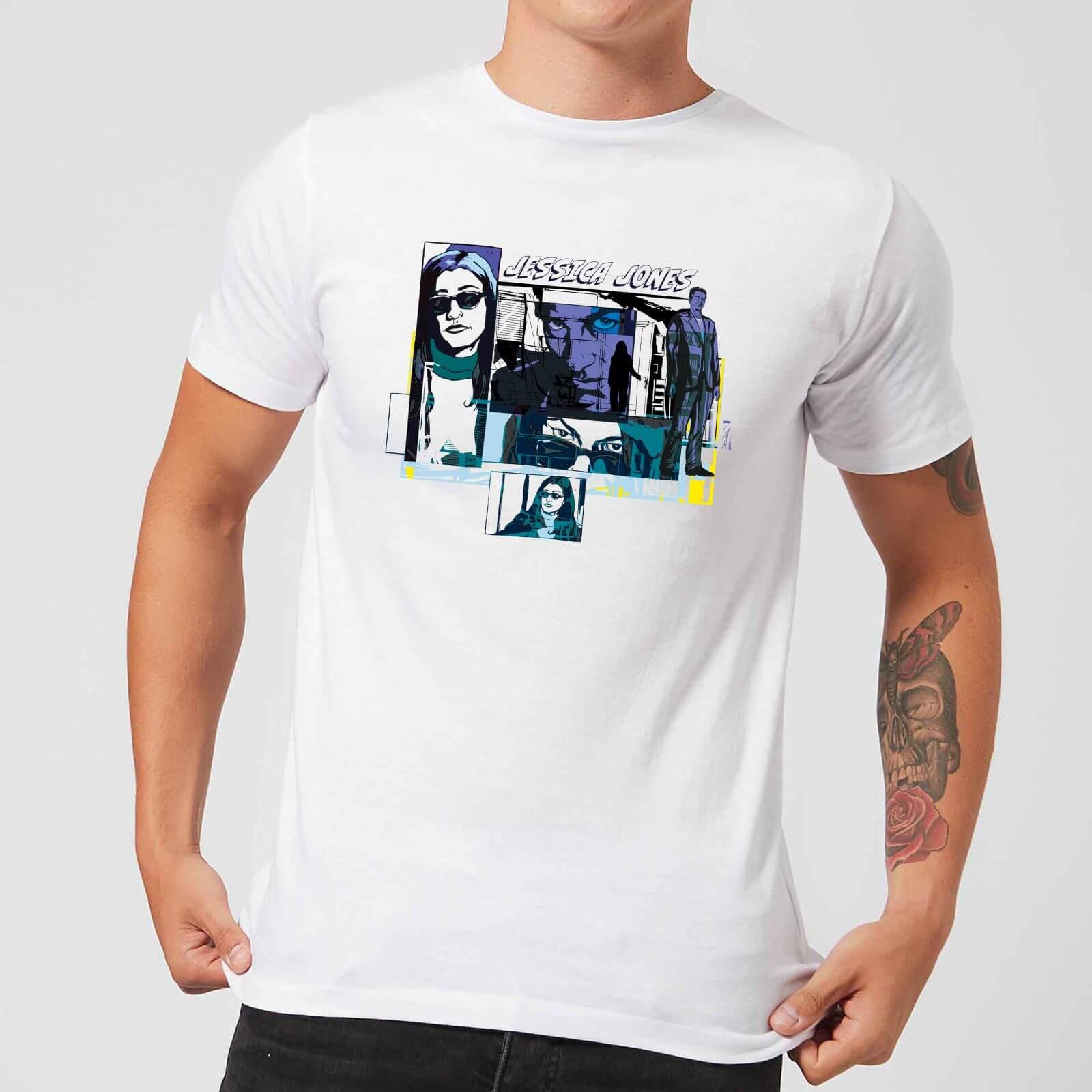 OfferteWeb.click 46-t-shirt-marvel-knights-jessica-jones-comic-panels-bianco