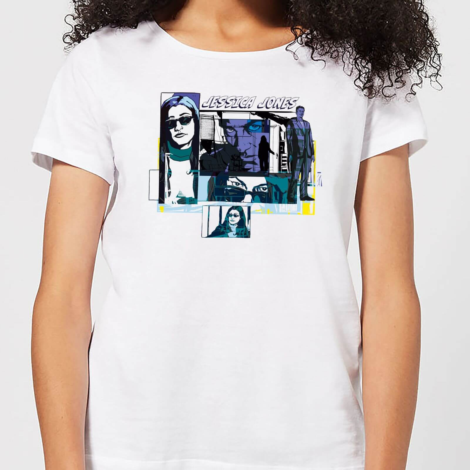 OfferteWeb.click 78-t-shirt-marvel-knights-jessica-jones-comic-panels-bianco