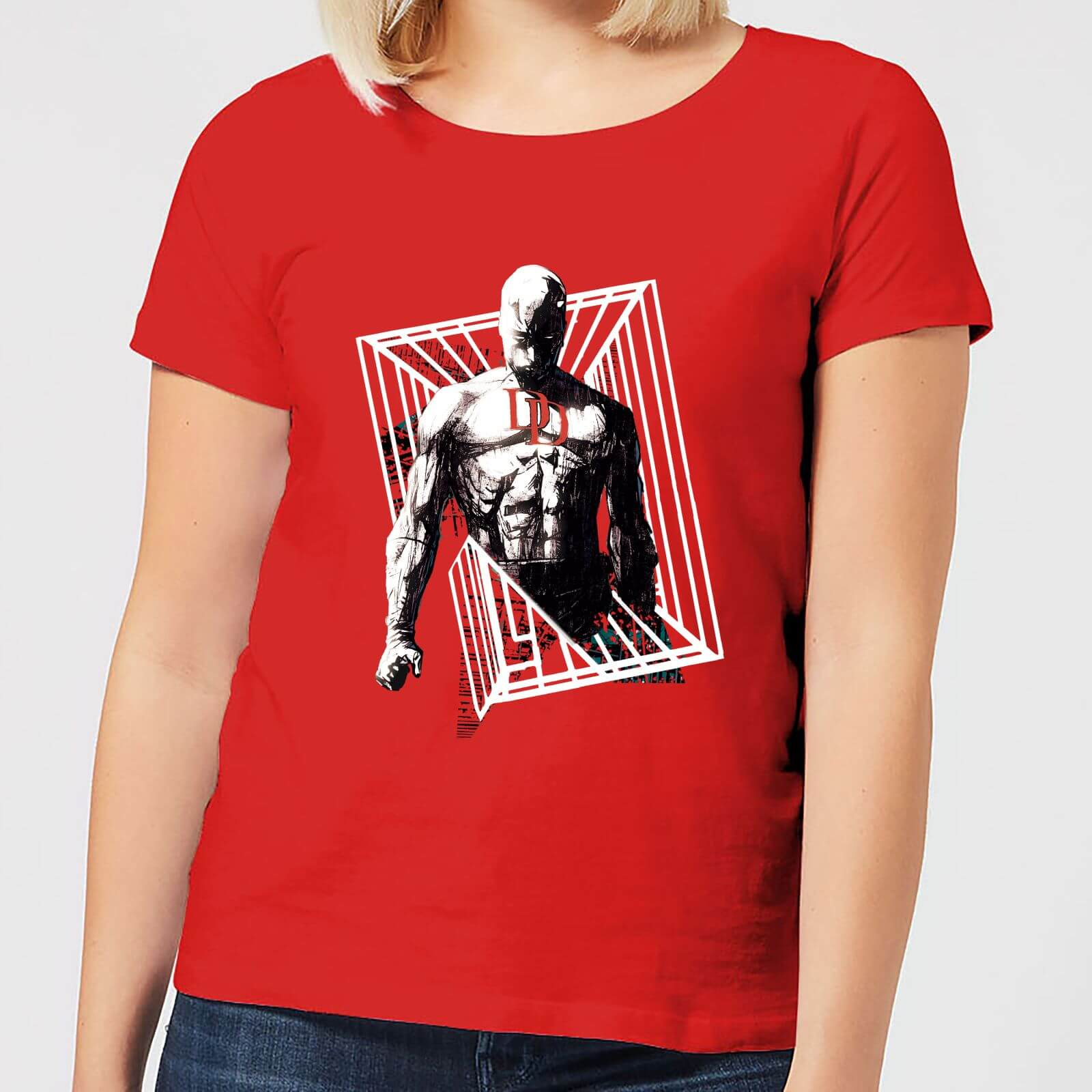 OfferteWeb.click 96-t-shirt-marvel-knights-daredevil-cage-rosso-donna-xl
