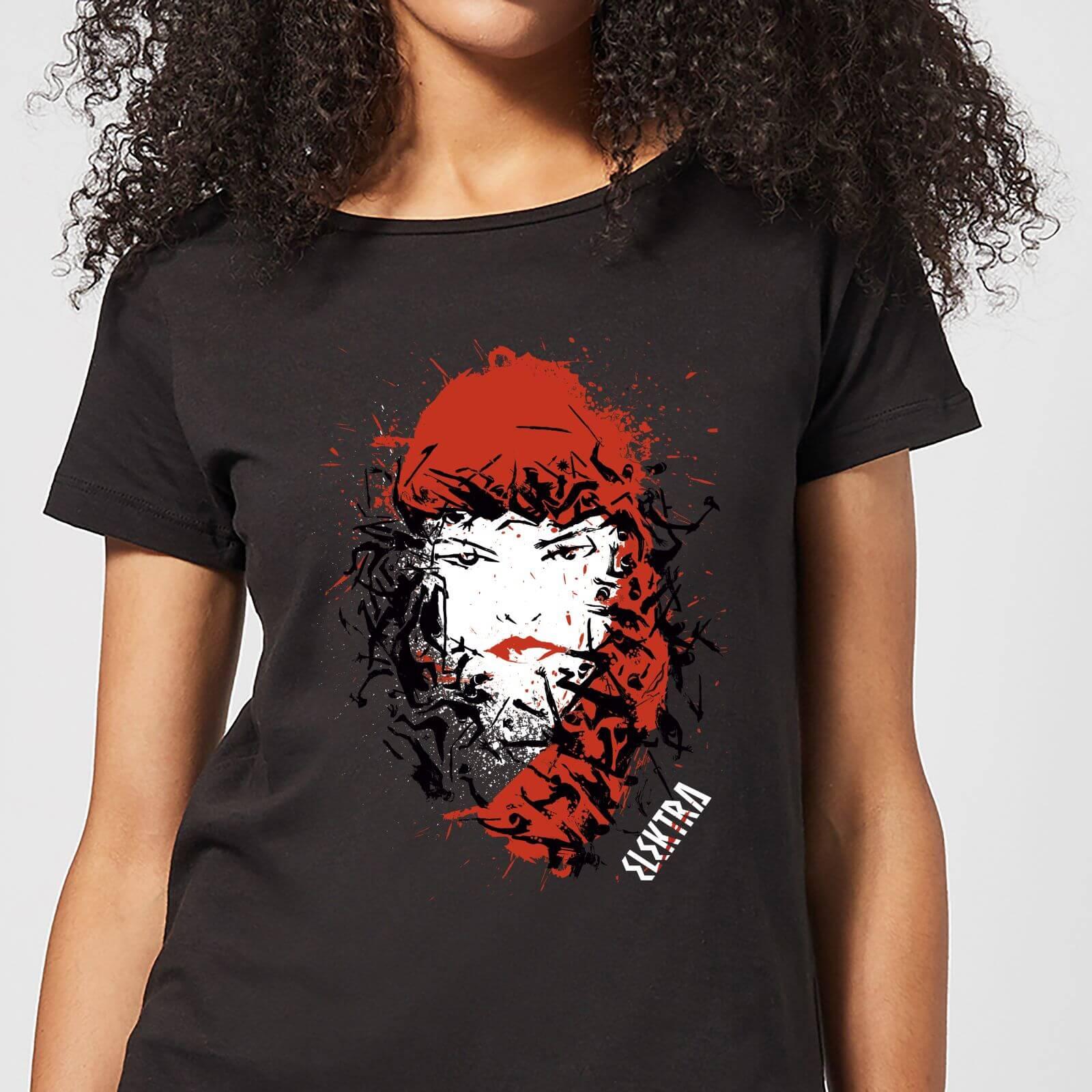 OfferteWeb.click 24-t-shirt-marvel-knights-elektra-face-of-death-nero-donna