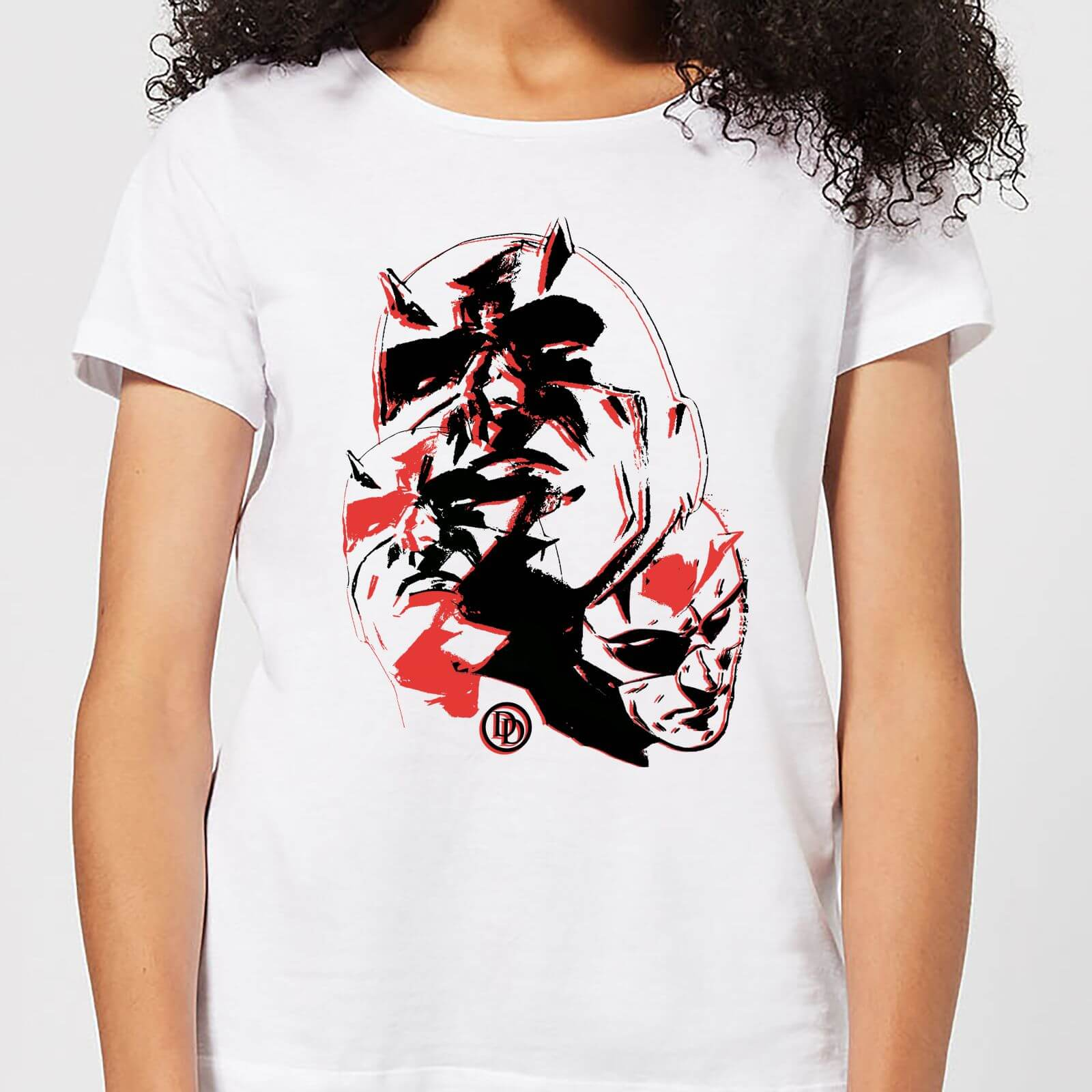 OfferteWeb.click 32-t-shirt-marvel-knights-daredevil-layered-faces-bianco