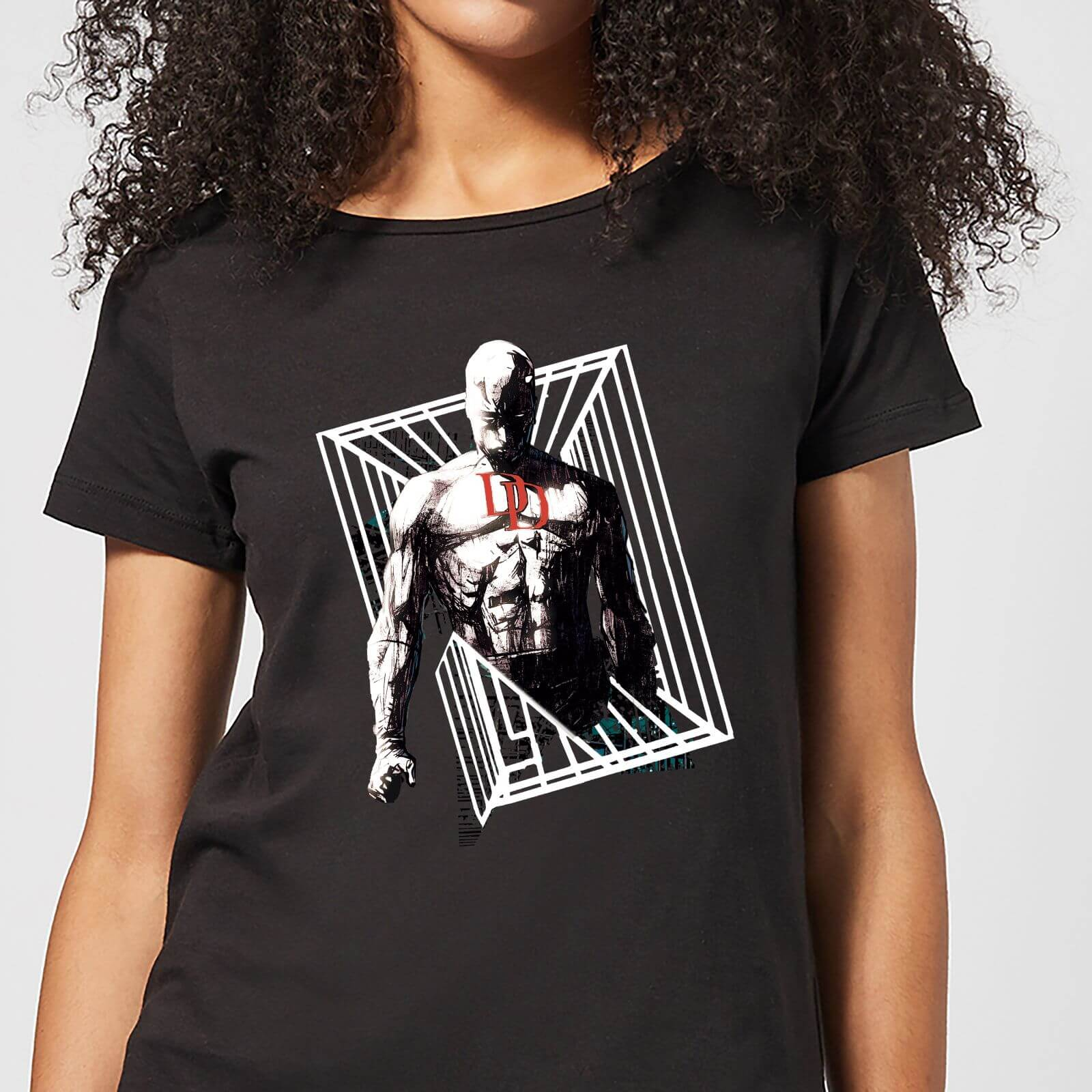 OfferteWeb.click 36-t-shirt-marvel-knights-daredevil-cage-nero-donna-m