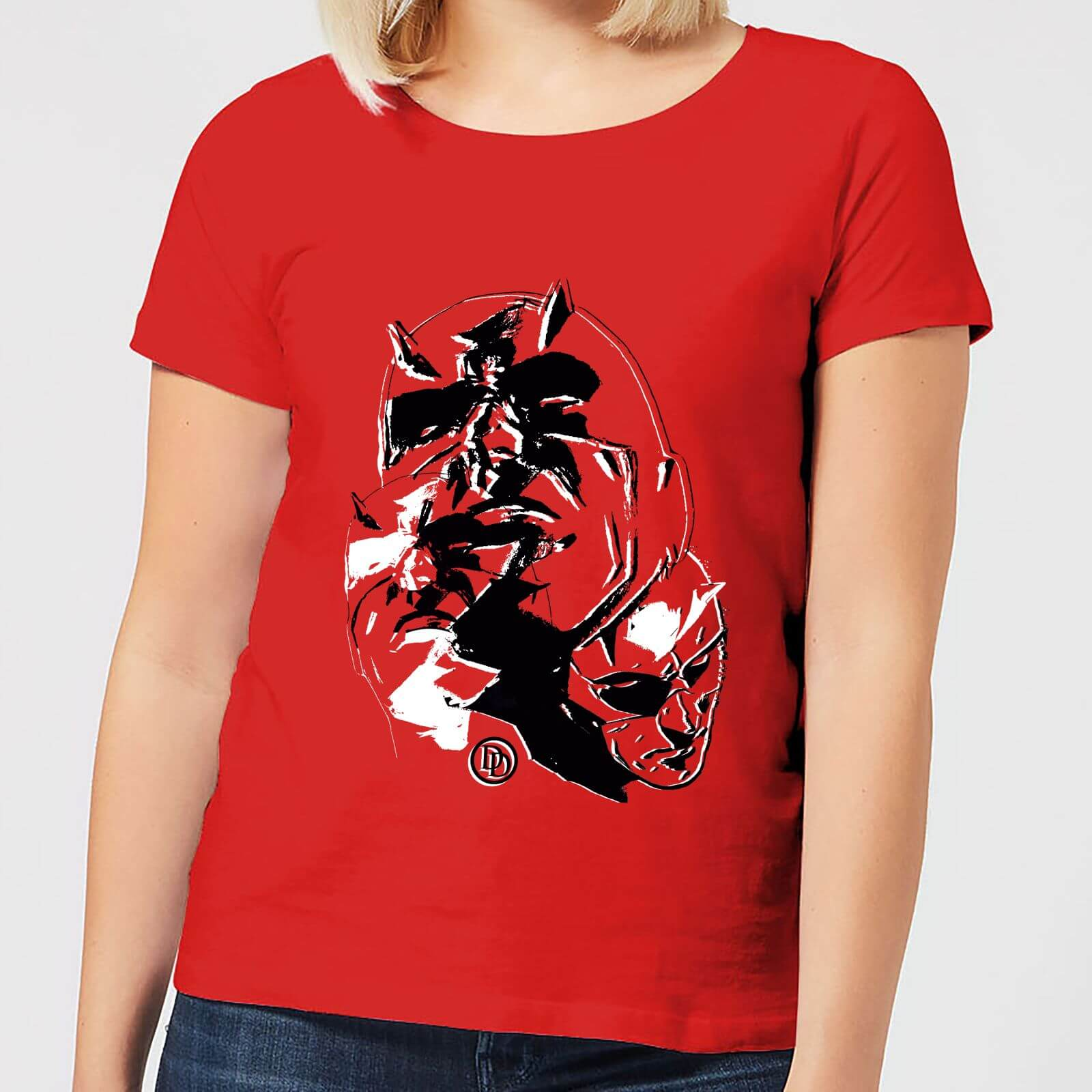 OfferteWeb.click 63-t-shirt-marvel-knights-daredevil-layered-faces-rosso