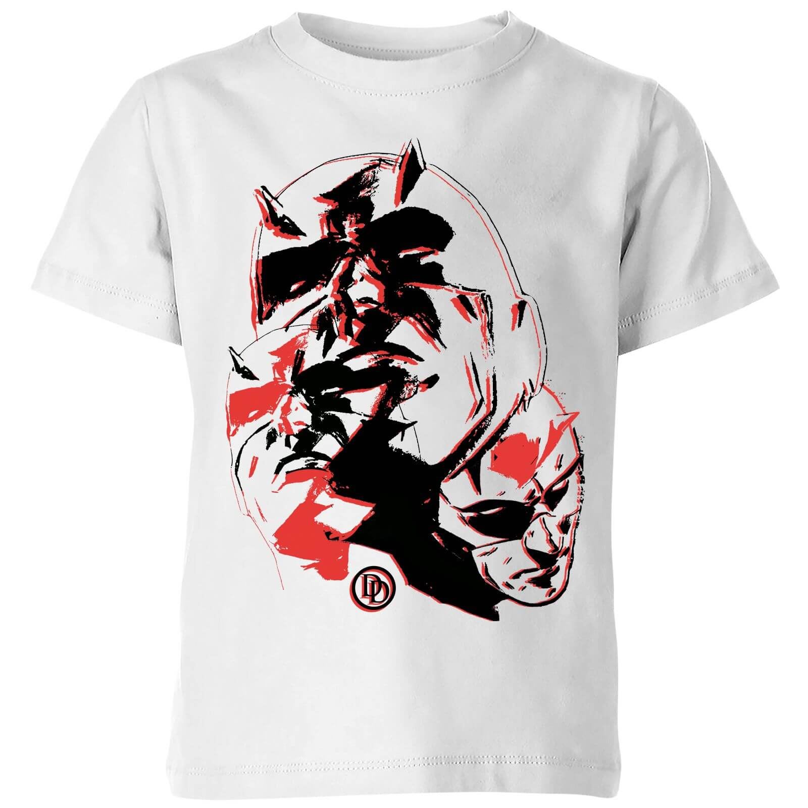 OfferteWeb.click 87-t-shirt-marvel-knights-daredevil-layered-faces-bianco