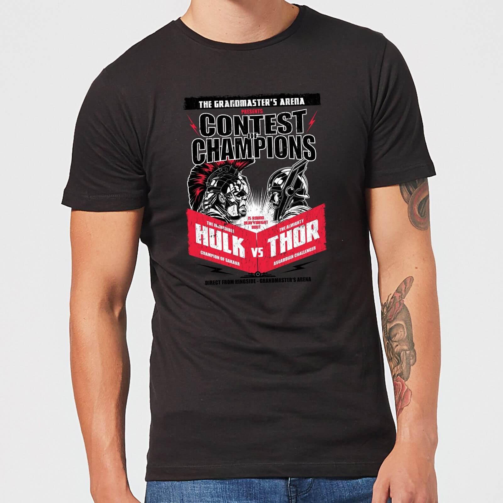 OfferteWeb.click 22-t-shirt-marvel-thor-ragnarok-champions-poster-nero-uomo