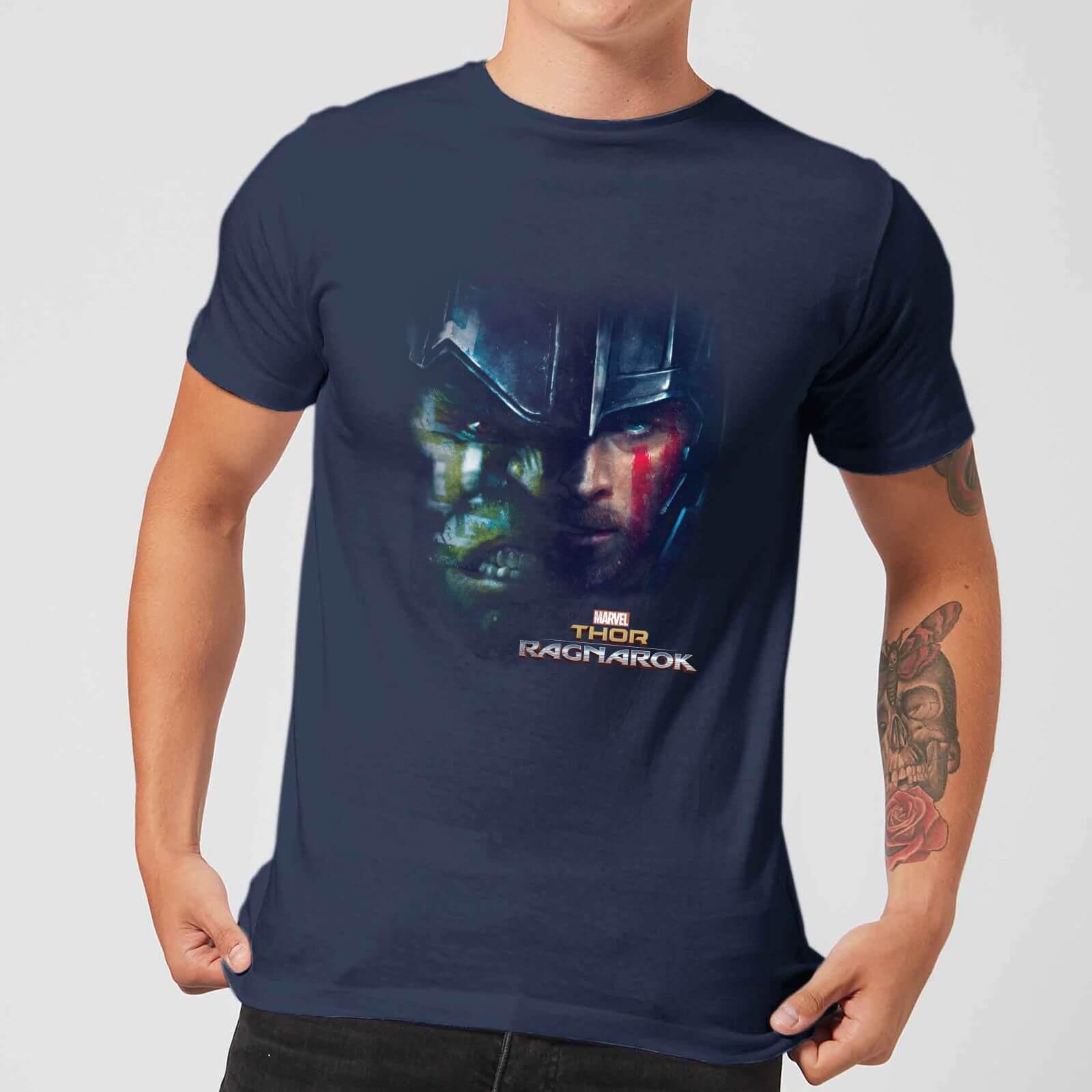 OfferteWeb.click 28-t-shirt-marvel-thor-ragnarok-hulk-split-face-navy-uomo