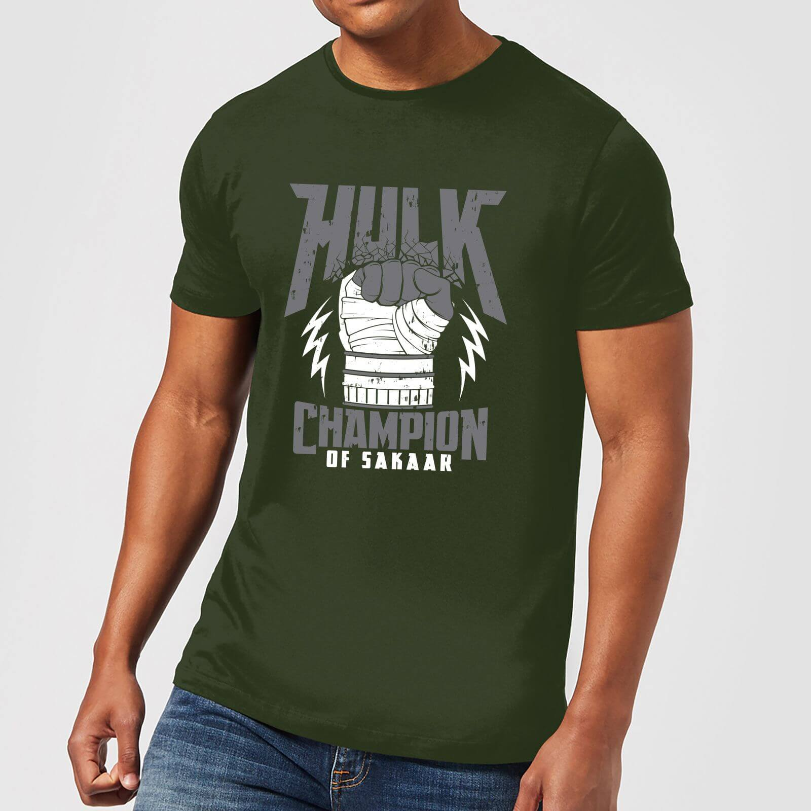 OfferteWeb.click 33-t-shirt-marvel-thor-ragnarok-hulk-champion-forest-green