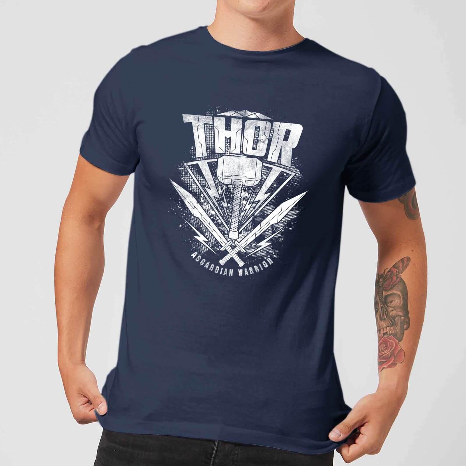 OfferteWeb.click 39-t-shirt-marvel-thor-ragnarok-thor-hammer-logo-navy-uomo