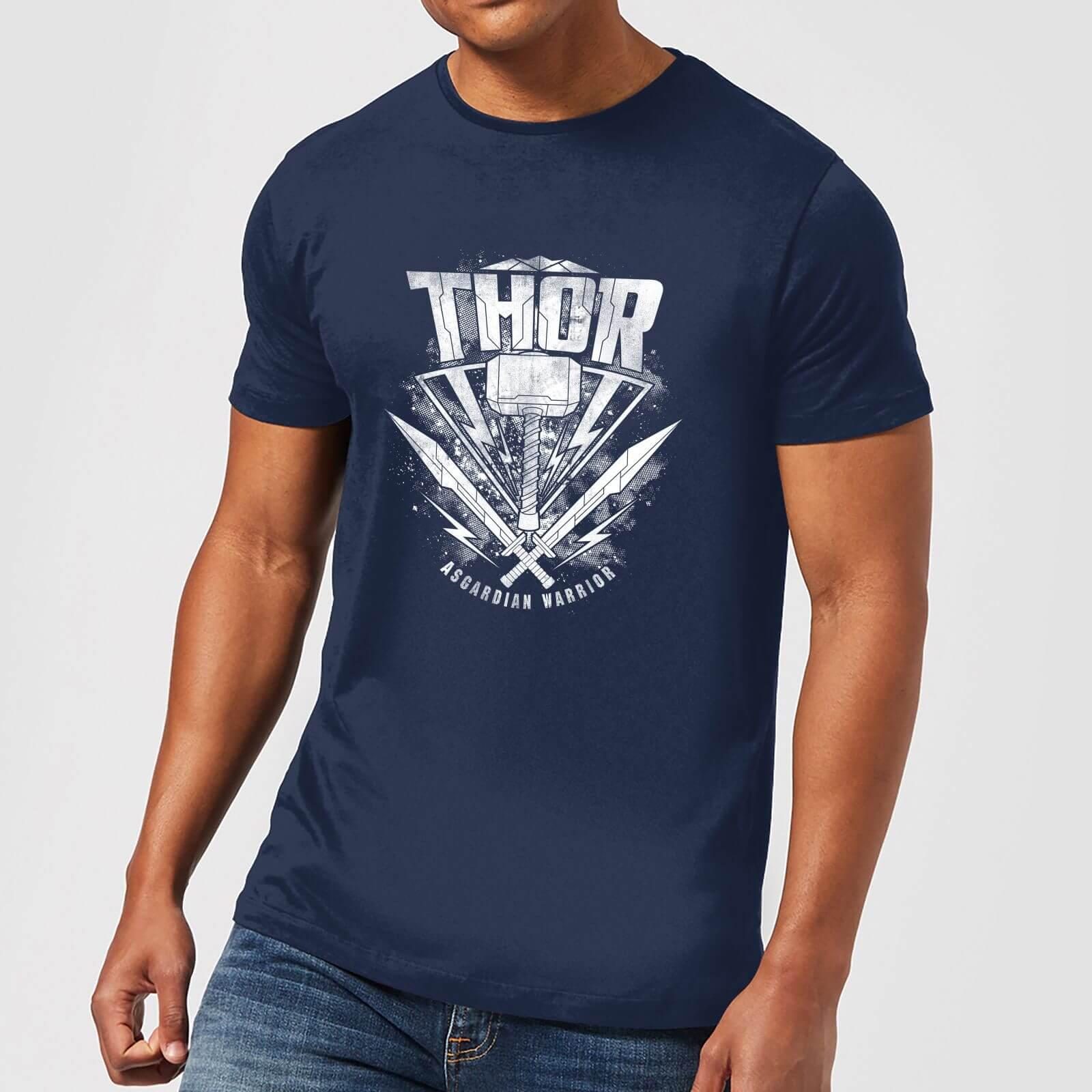 OfferteWeb.click 42-t-shirt-marvel-thor-ragnarok-thor-hammer-logo-navy-uomo