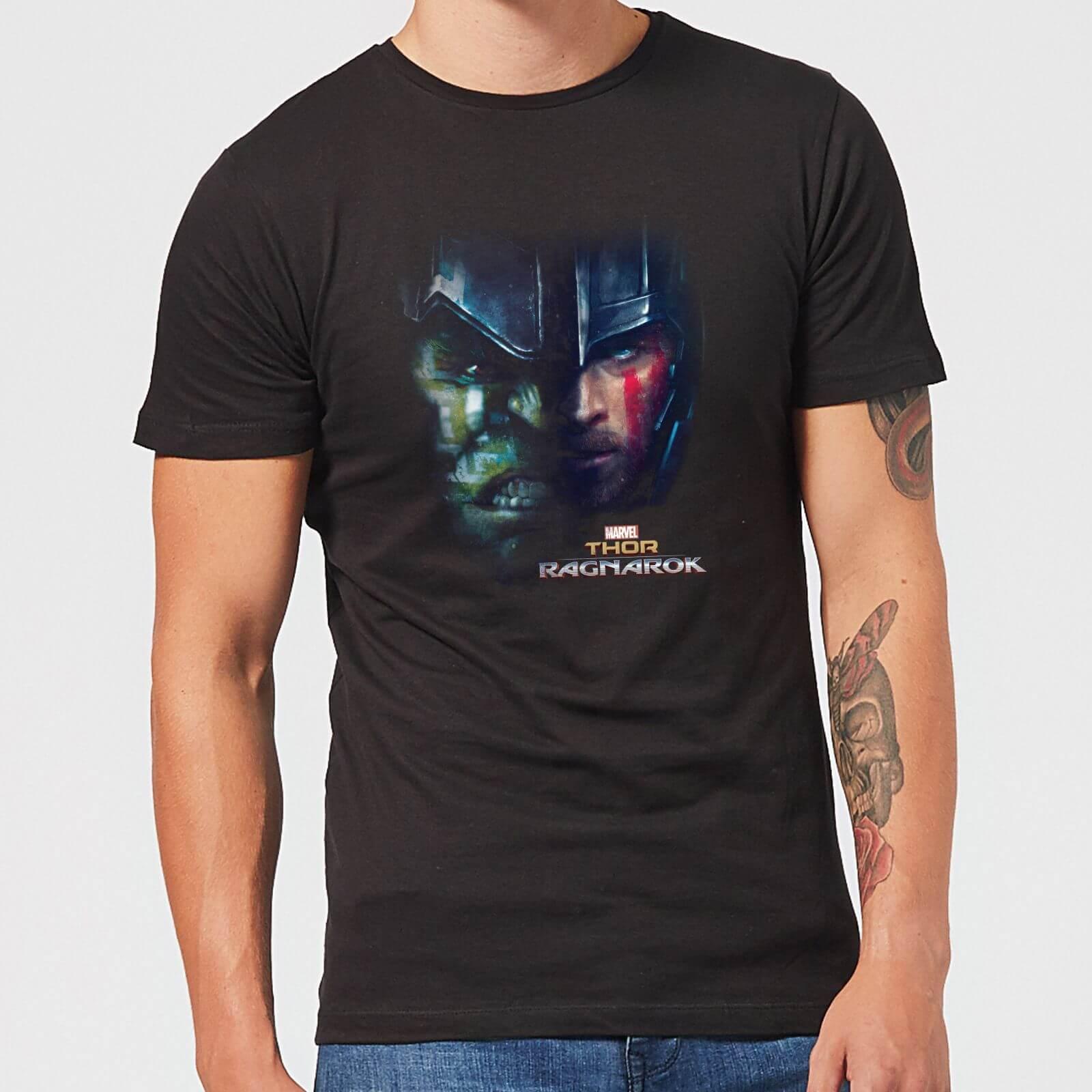 OfferteWeb.click 55-t-shirt-marvel-thor-ragnarok-hulk-split-face-nero-uomo