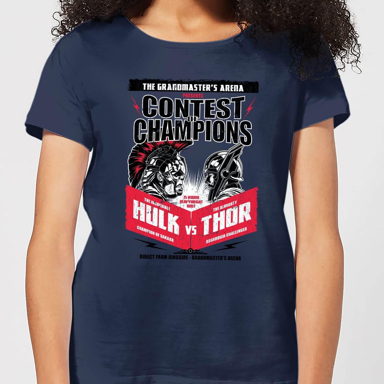OfferteWeb.click 86-t-shirt-marvel-thor-ragnarok-champions-poster-navy-donna