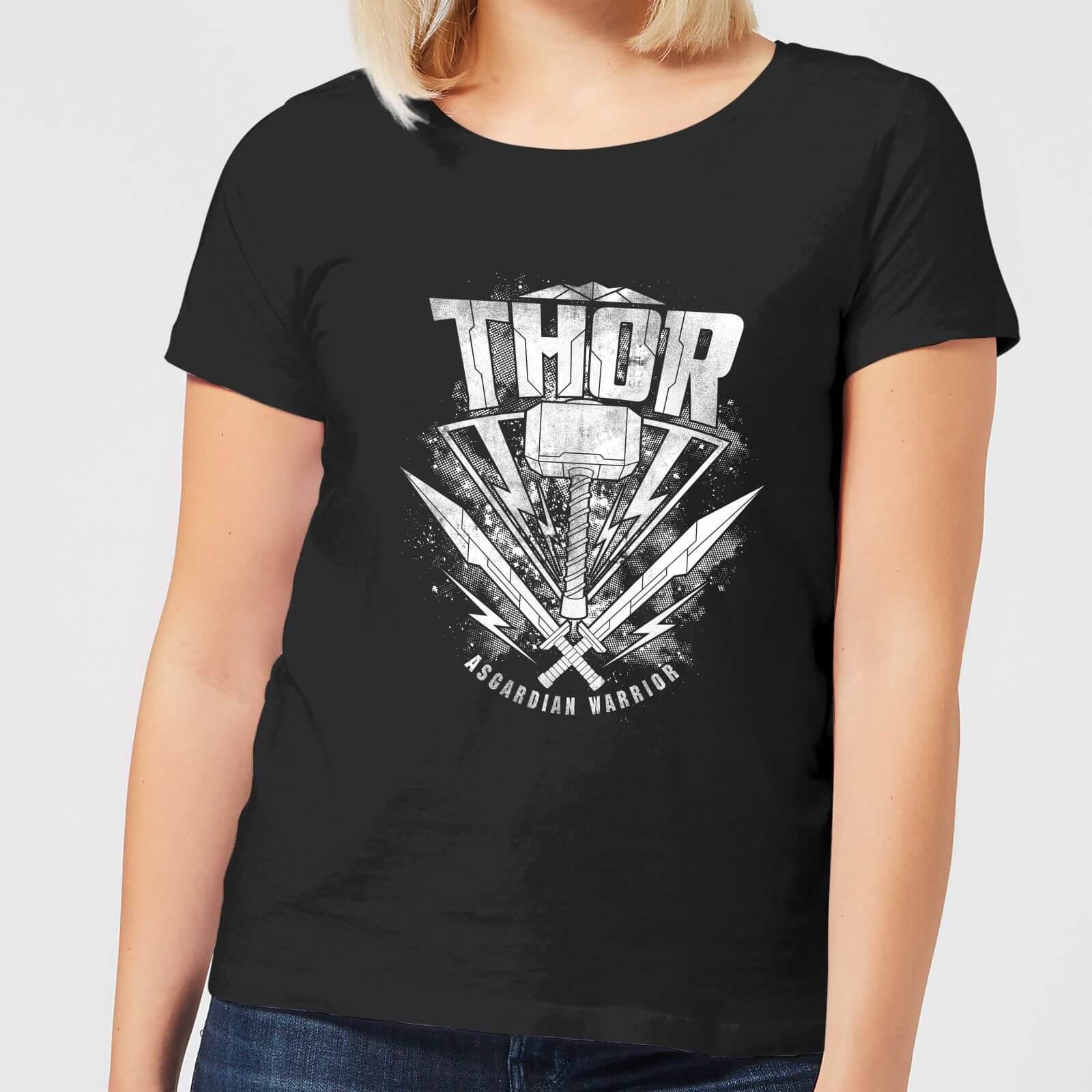OfferteWeb.click 08-t-shirt-marvel-thor-ragnarok-thor-hammer-logo-nero-donna