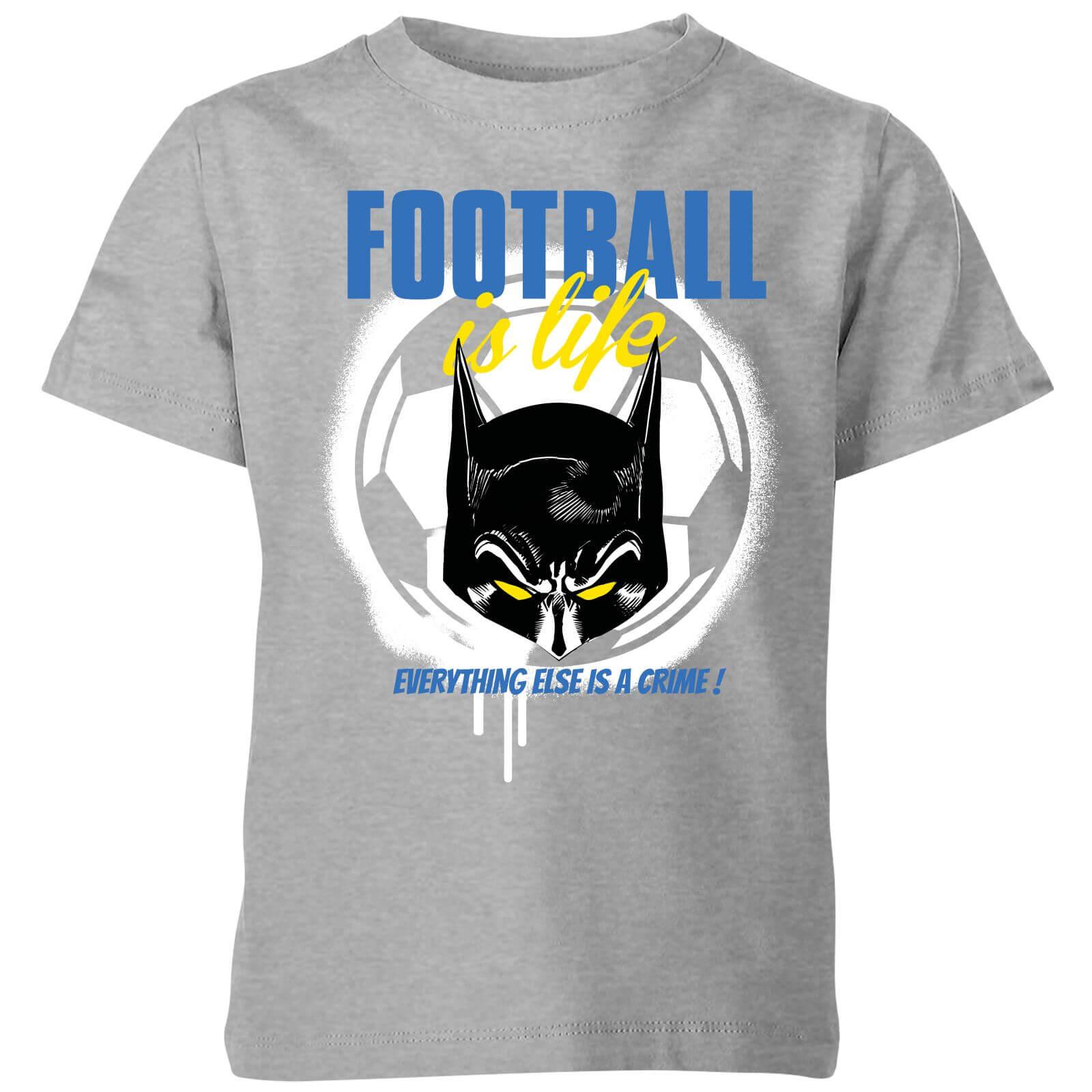 OfferteWeb.click 65-dc-batman-football-is-life-kids-t-shirt-grey-7-8-anni