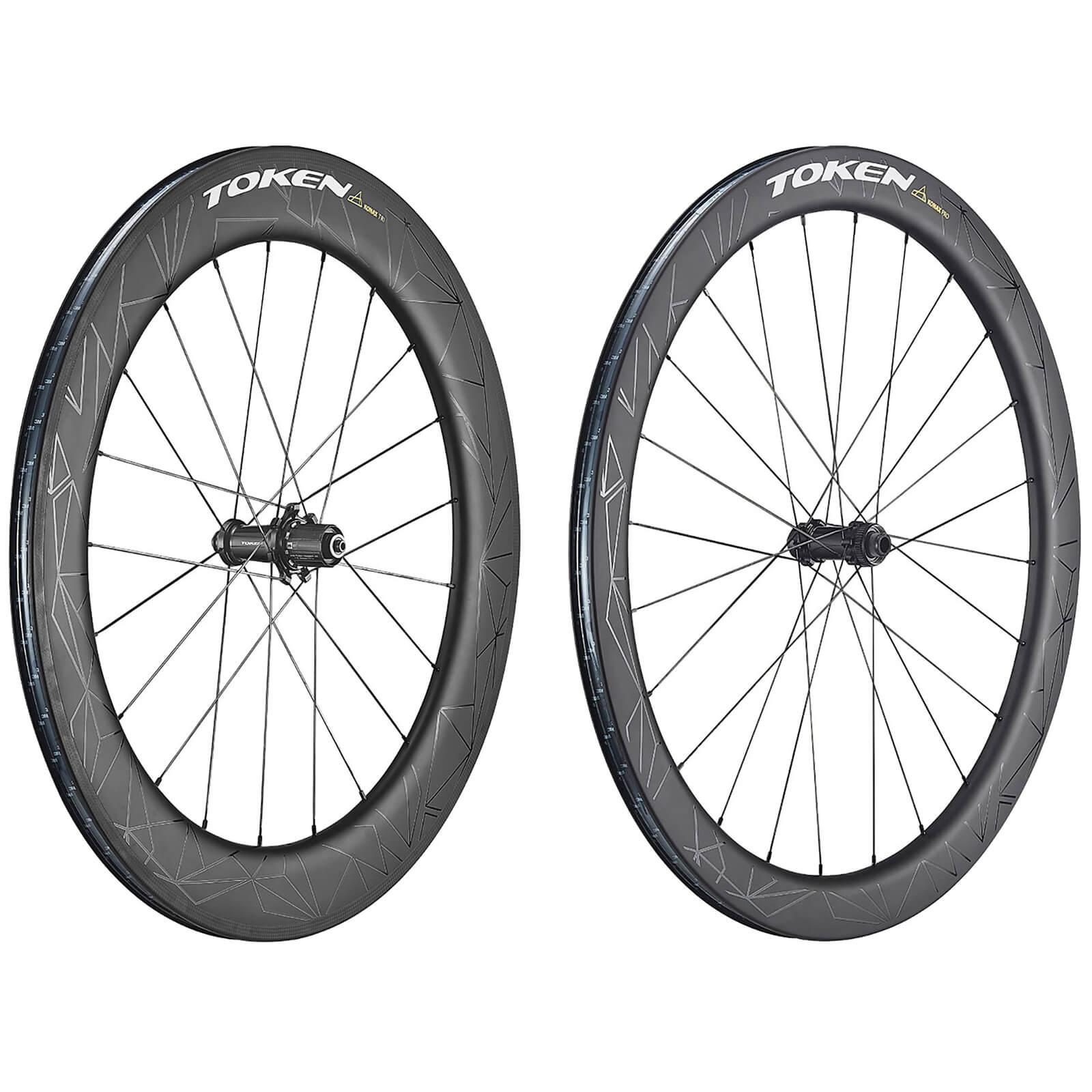 Token Konax Pro and Konax Tri Carbon Tubeless Ready Wheelset - Shimano