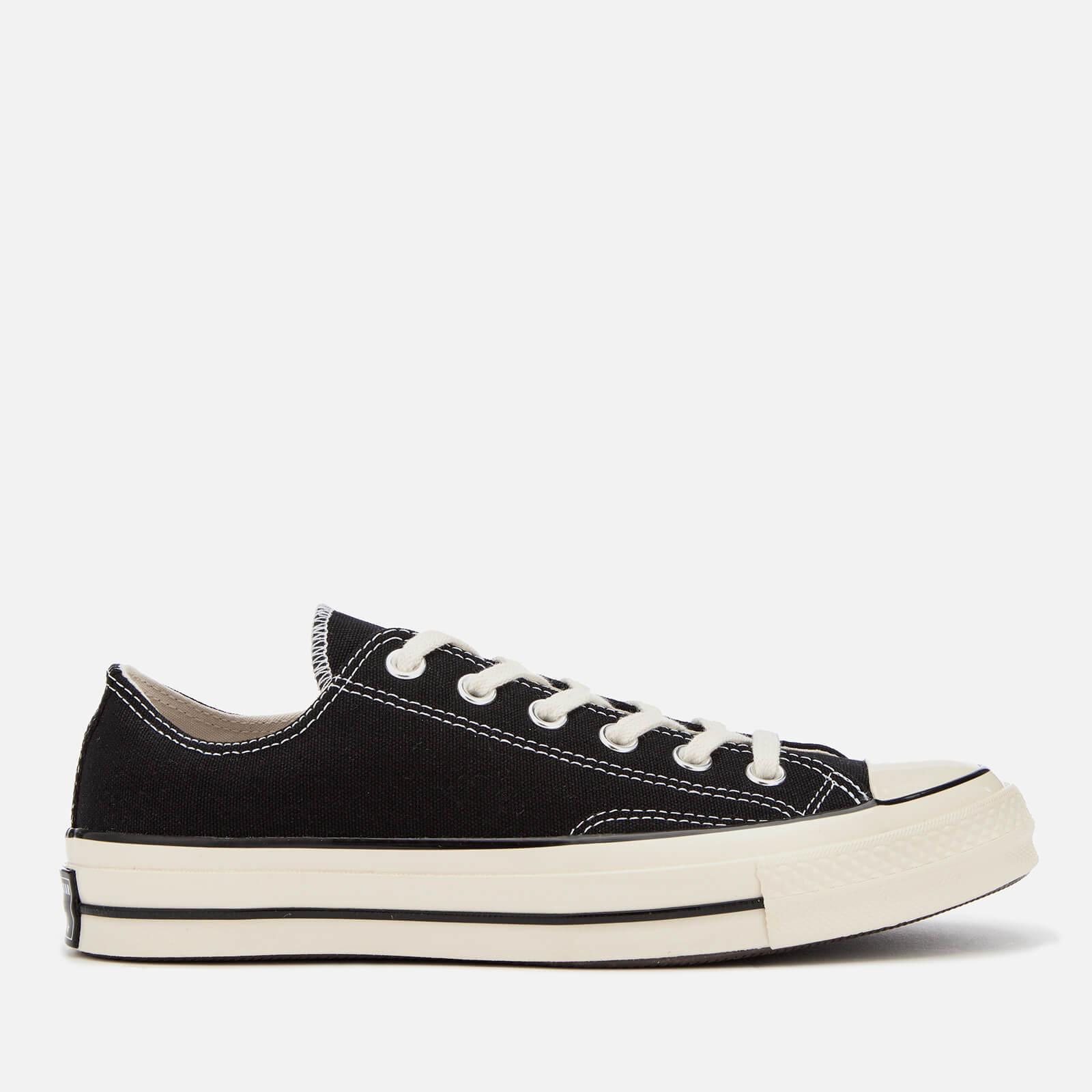 Converse Chuck 70 Ox Trainers - Black/Black/Egret - UK 3 - Black