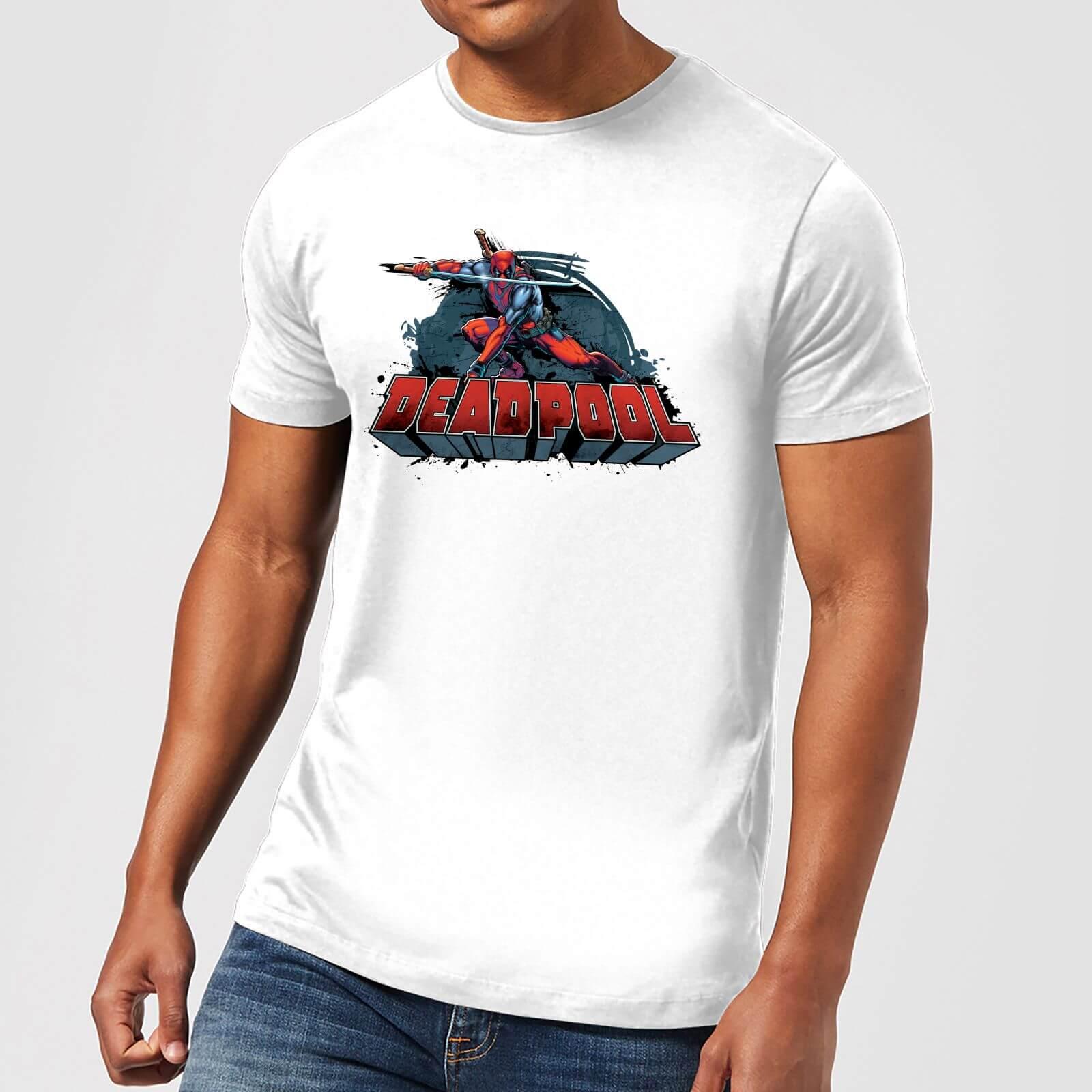 OfferteWeb.click 57-t-shirt-marvel-deadpool-sword-logo-bianco-uomo-xxl