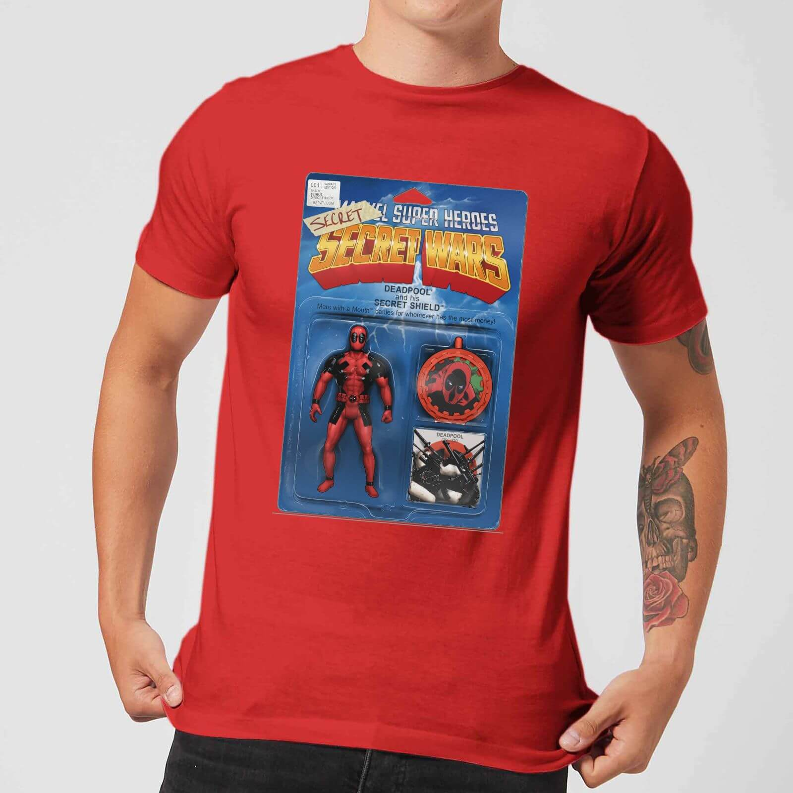 OfferteWeb.click 81-t-shirt-marvel-deadpool-secret-wars-action-figure-rosso