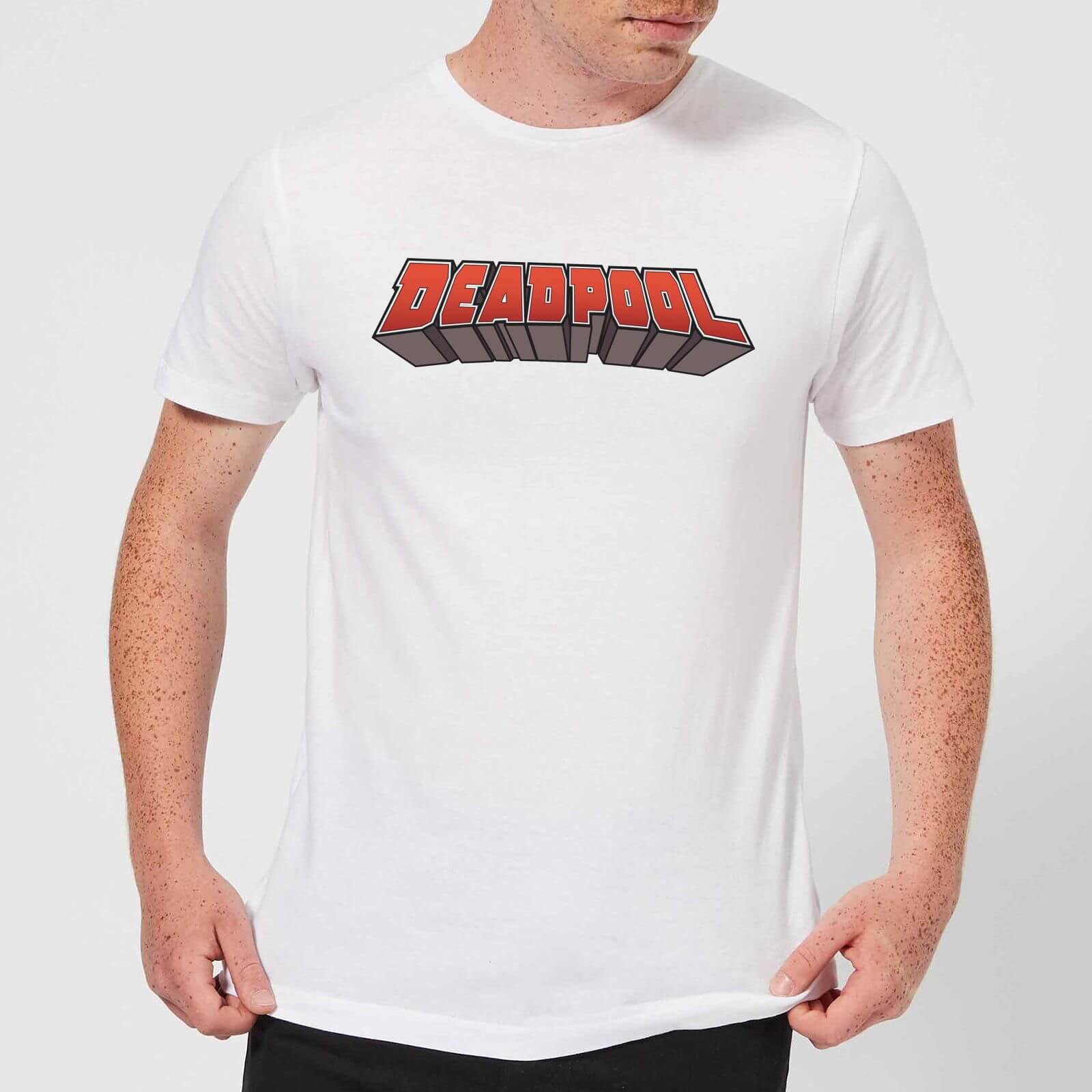 OfferteWeb.click 07-t-shirt-marvel-deadpool-logo-bianco-uomo-s-bianco