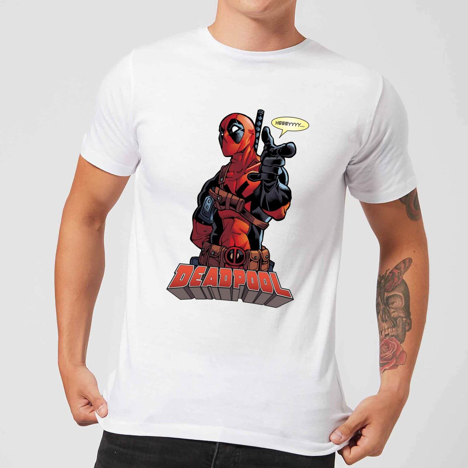 OfferteWeb.click 21-t-shirt-marvel-deadpool-hey-you-bianco-uomo-l-bianco
