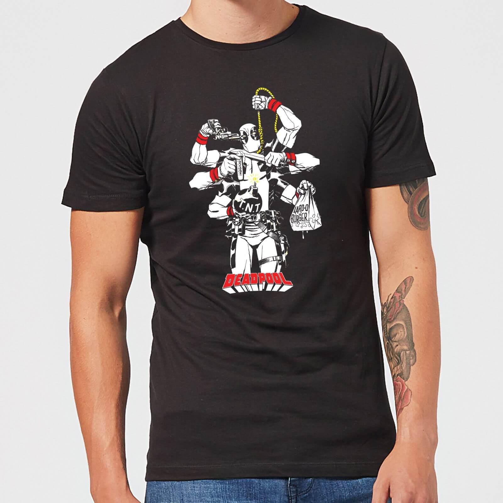 OfferteWeb.click 27-t-shirt-marvel-deadpool-multitasking-nero-uomo-l