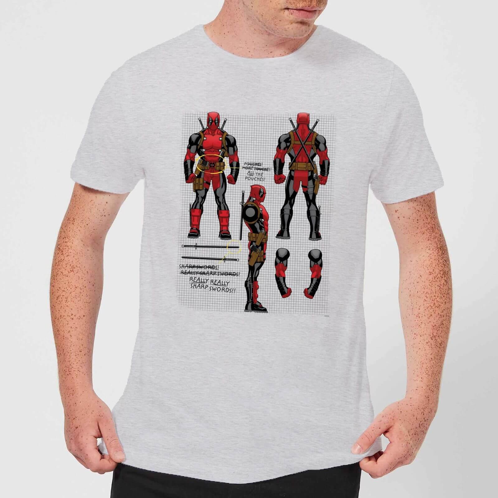 OfferteWeb.click 37-t-shirt-marvel-deadpool-action-figure-plans-grigio-uomo