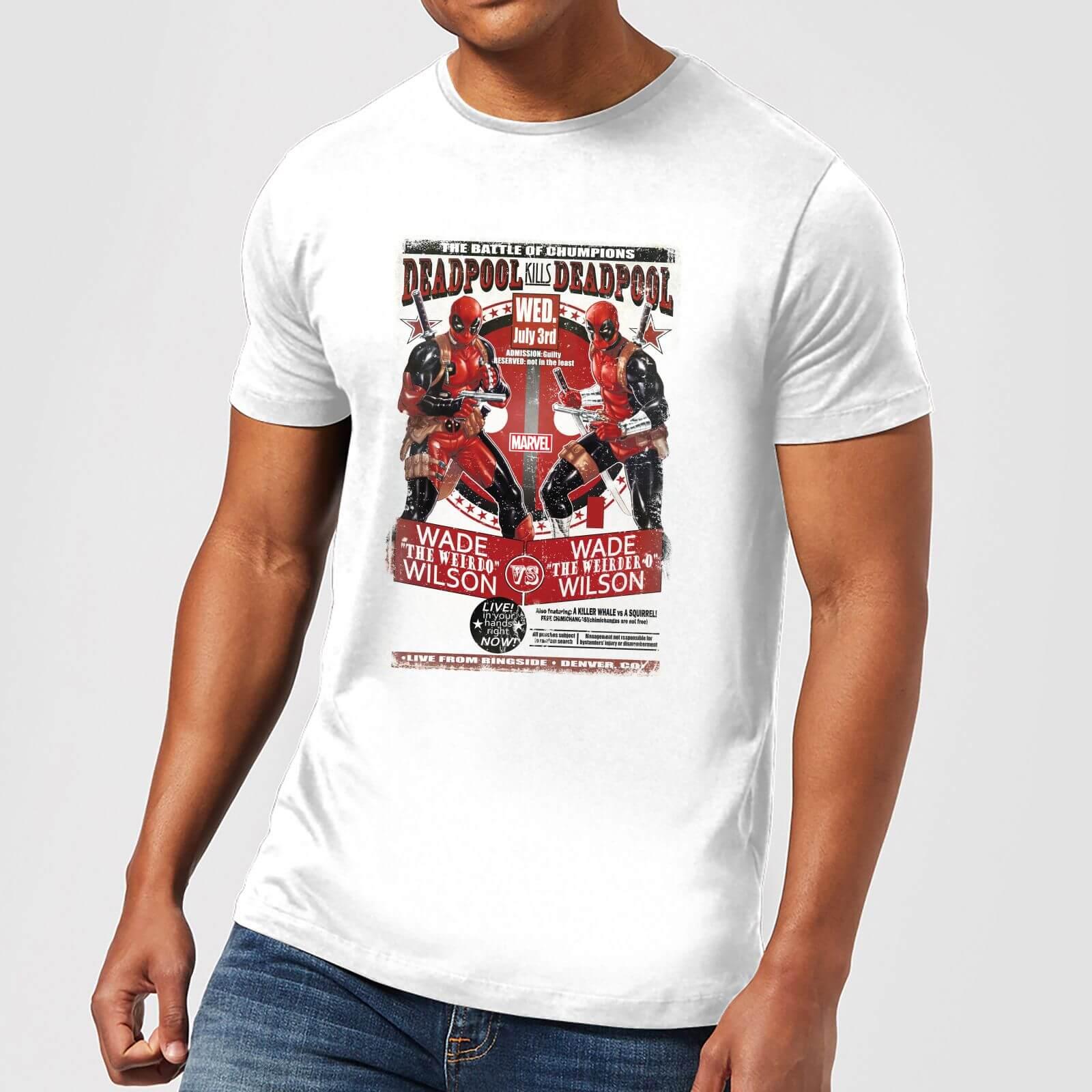 OfferteWeb.click 47-t-shirt-marvel-deadpool-kills-deadpool-bianco-uomo-xxl