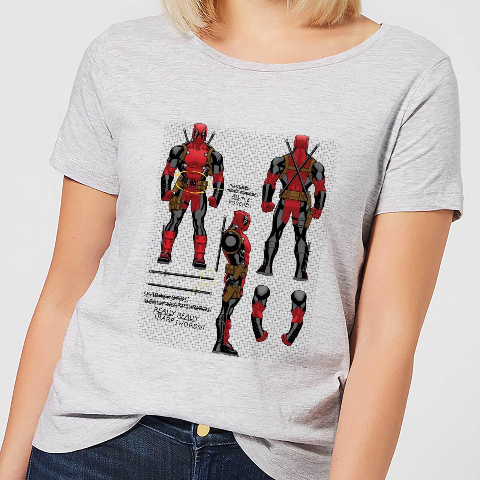 OfferteWeb.click 53-t-shirt-marvel-deadpool-action-figure-plans-grigio-donna