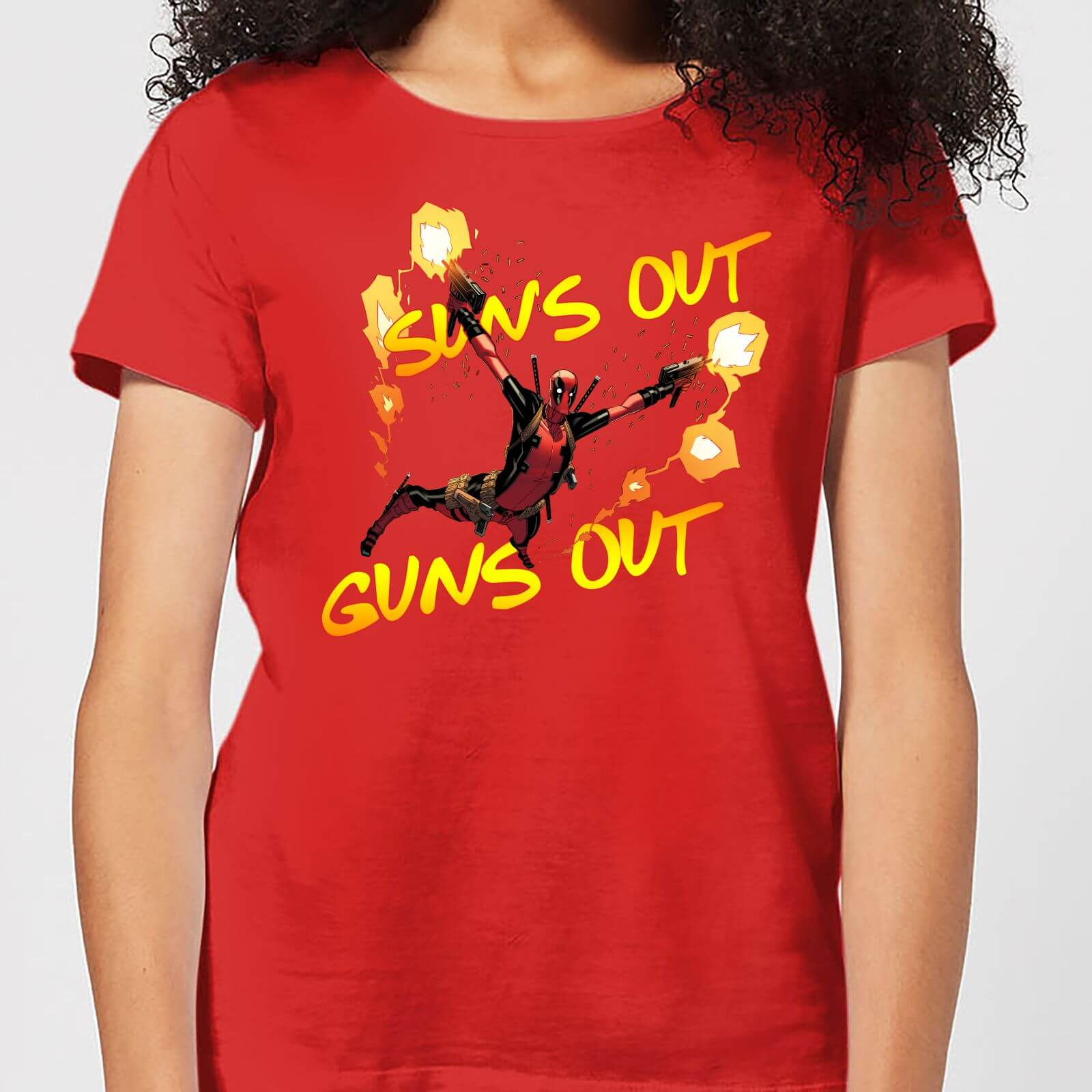 OfferteWeb.click 61-t-shirt-marvel-deadpool-suns-out-guns-out-rosso-donna