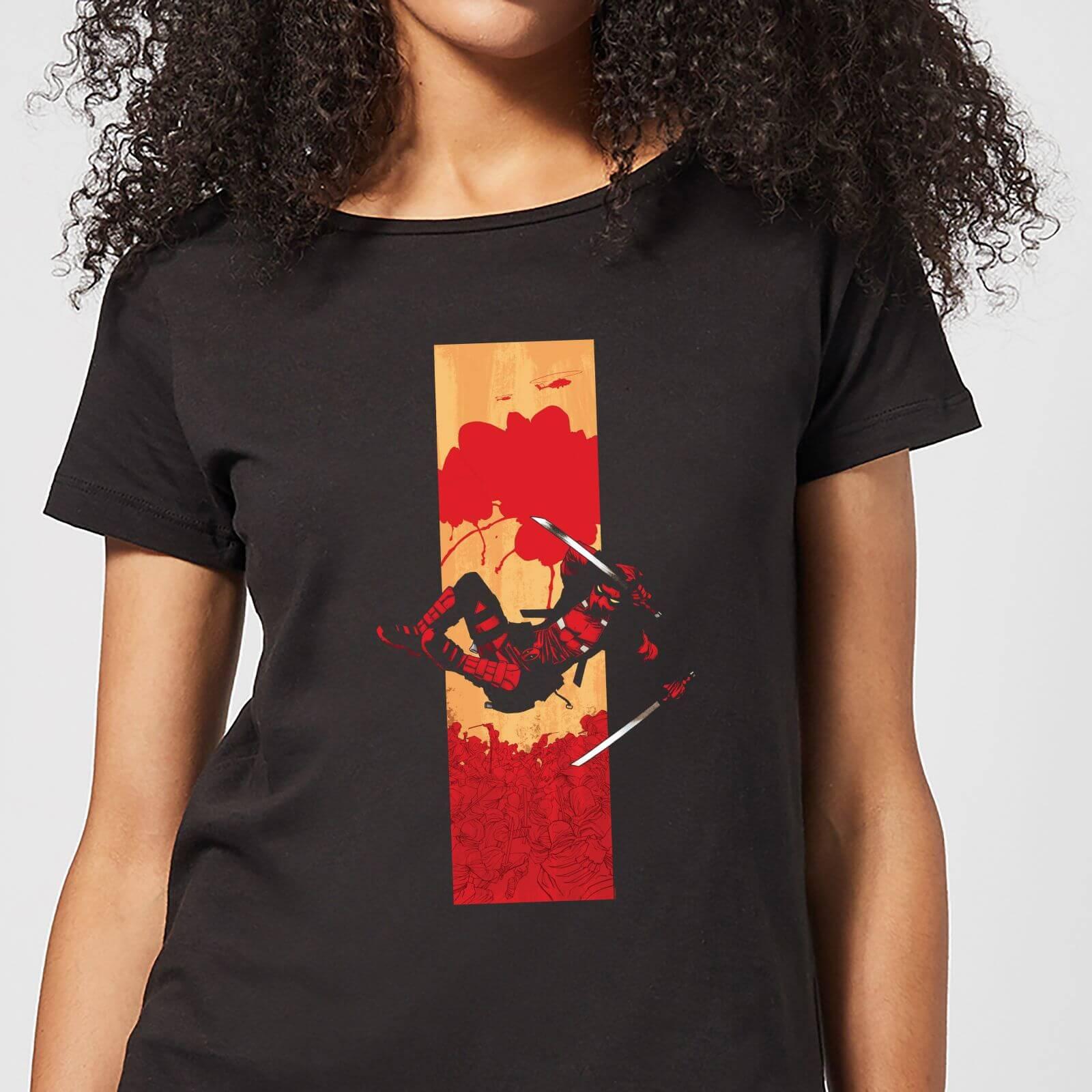 OfferteWeb.click 07-t-shirt-marvel-deadpool-blood-strip-nero-donna-xxl