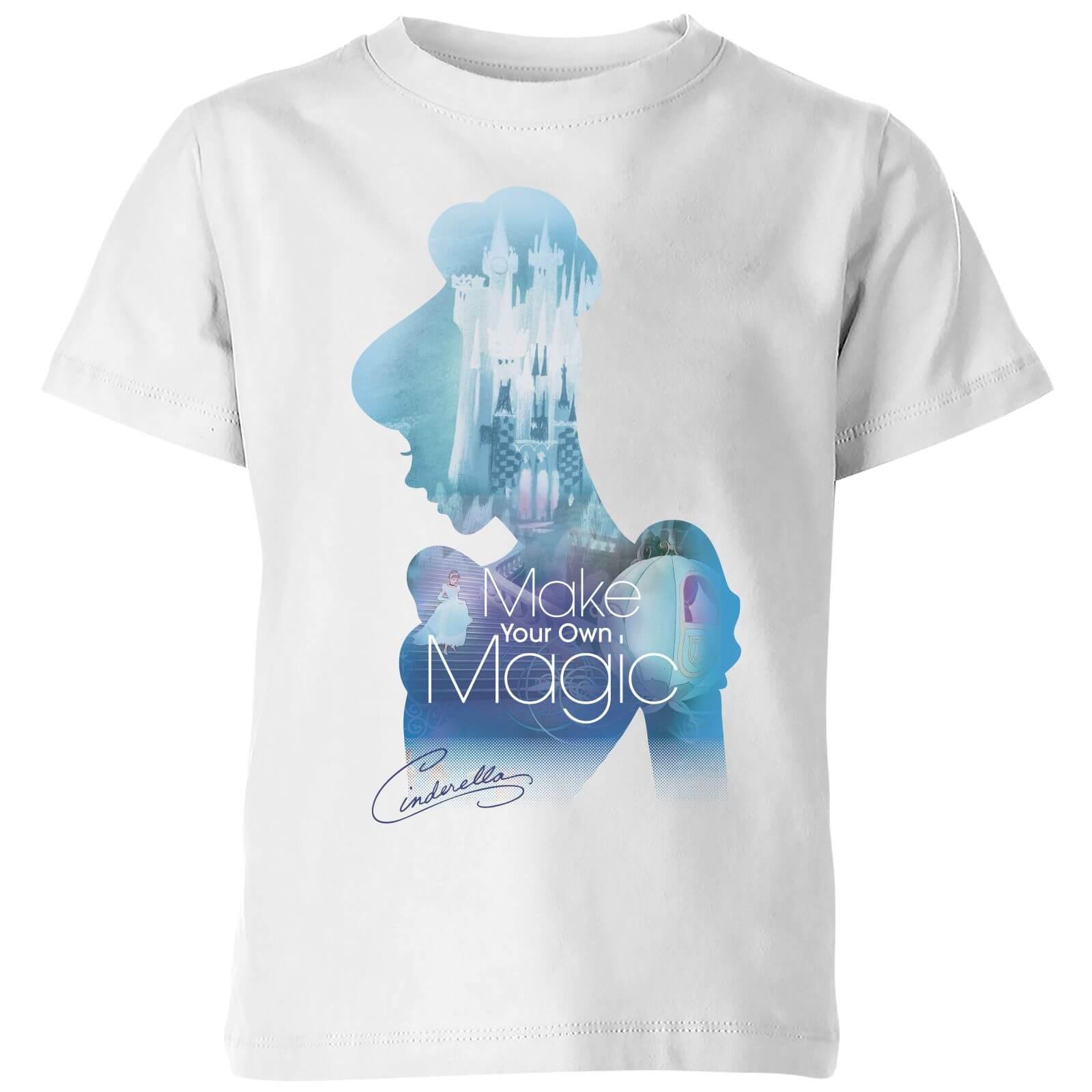 disney princess filled silhouette cinderella kids' t-shirt - white - 3-4 years - white