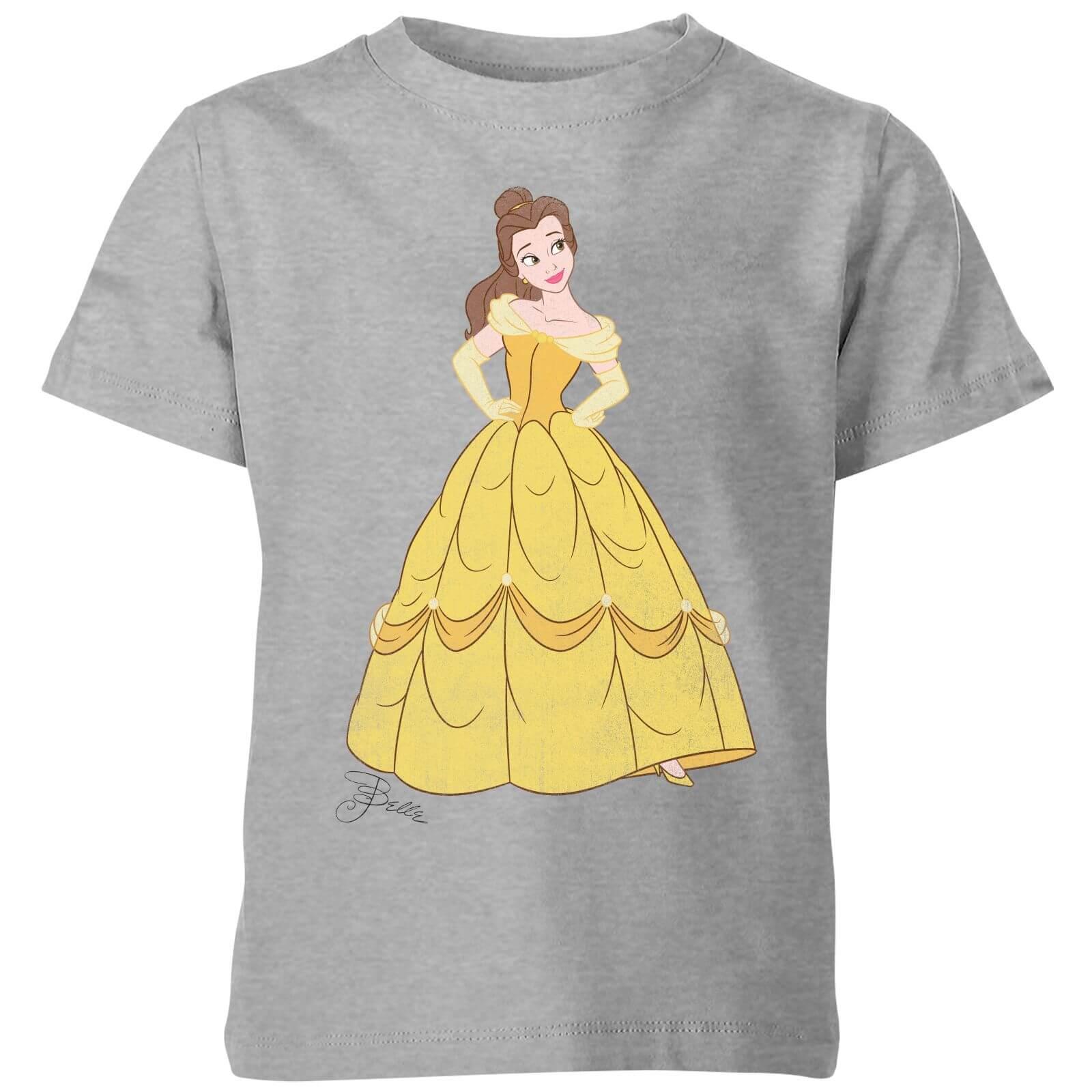 disney princess belle classic kids' t-shirt - grey - 3-4 years - grey