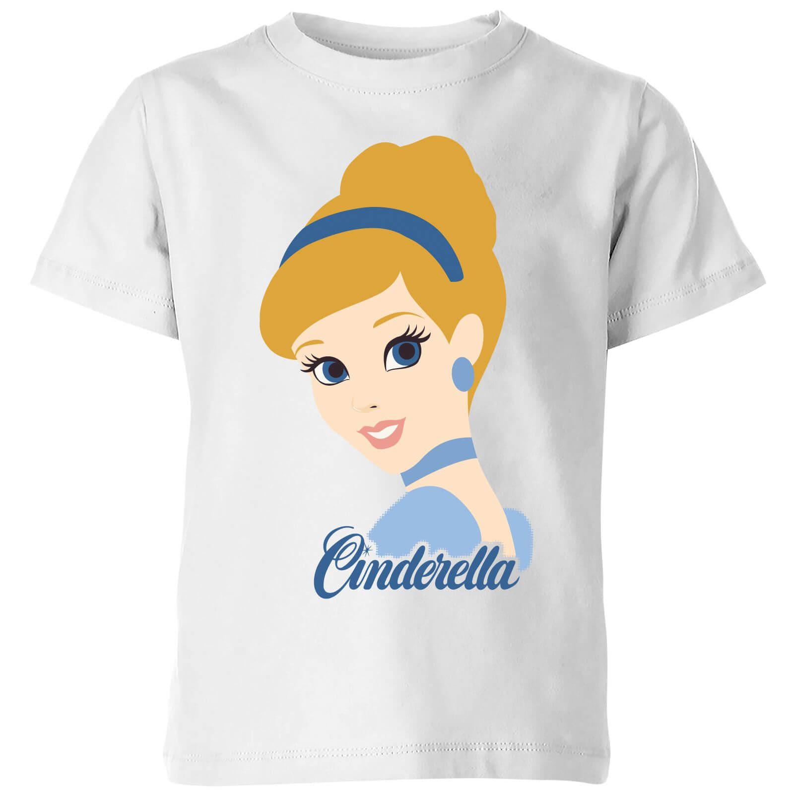 disney princess colour silhouette cinderella kids' t-shirt - white - 3-4 years - white