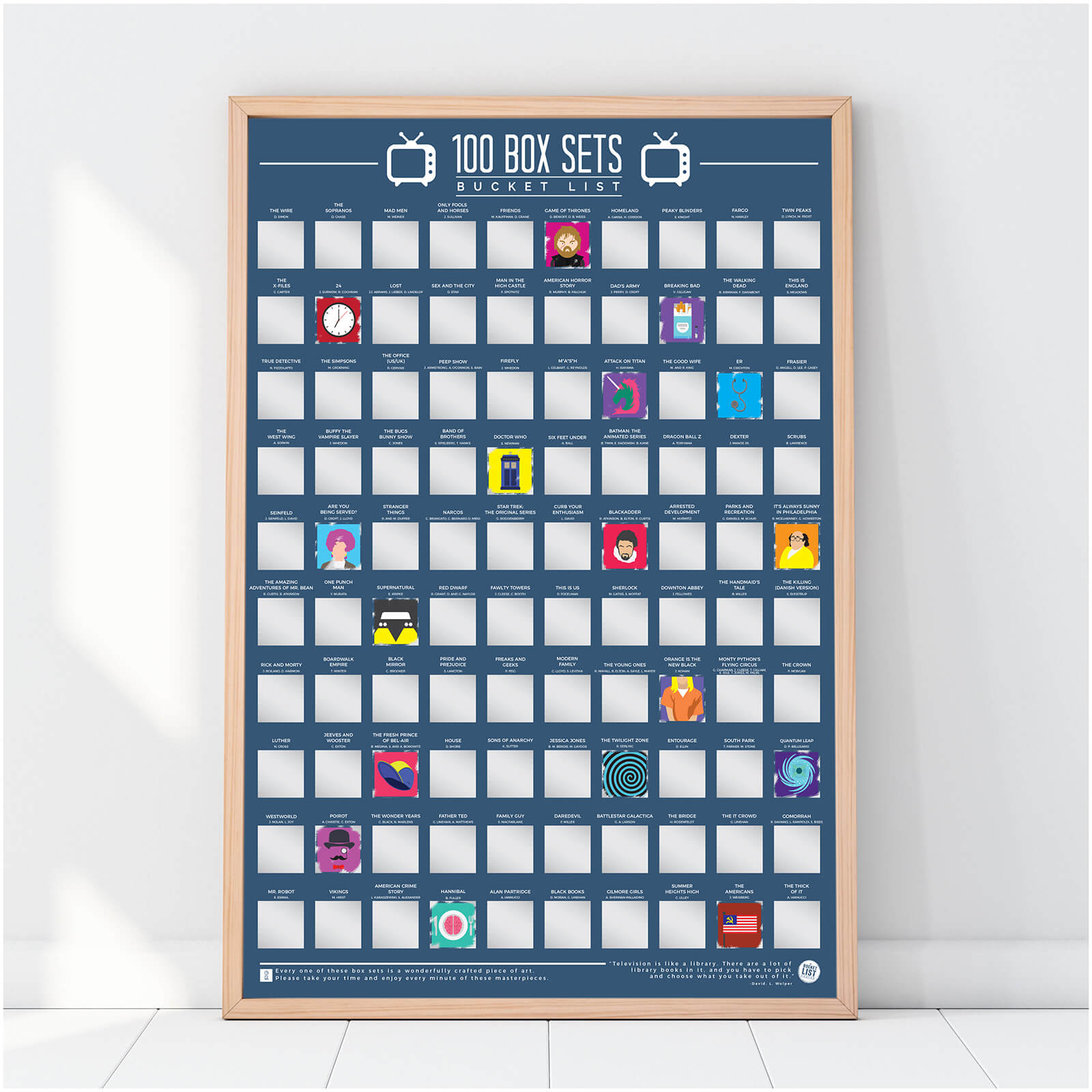 Image of 100 Box Sets Bucket List Poster