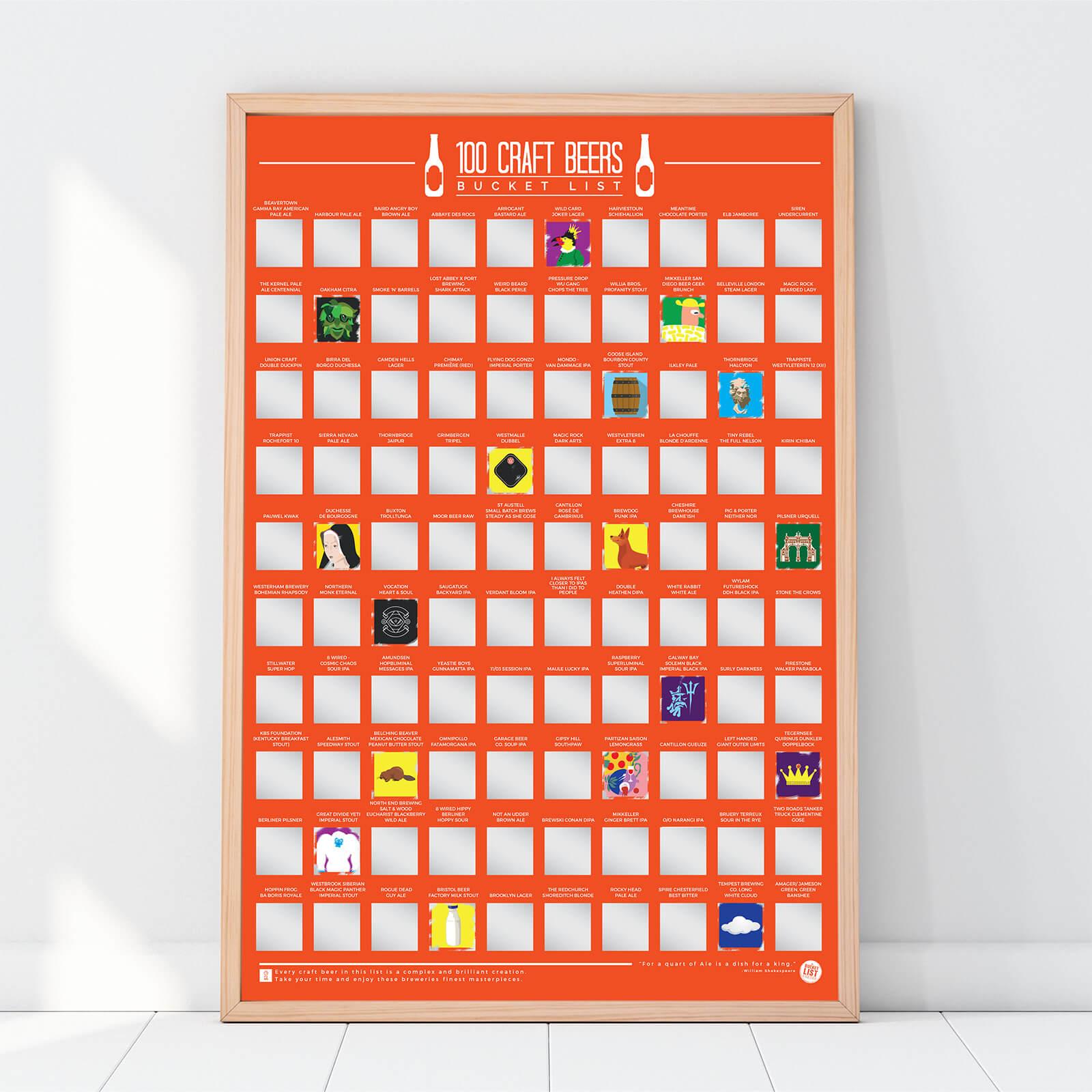 Image of 100 Craft Beer Bucket List Poster